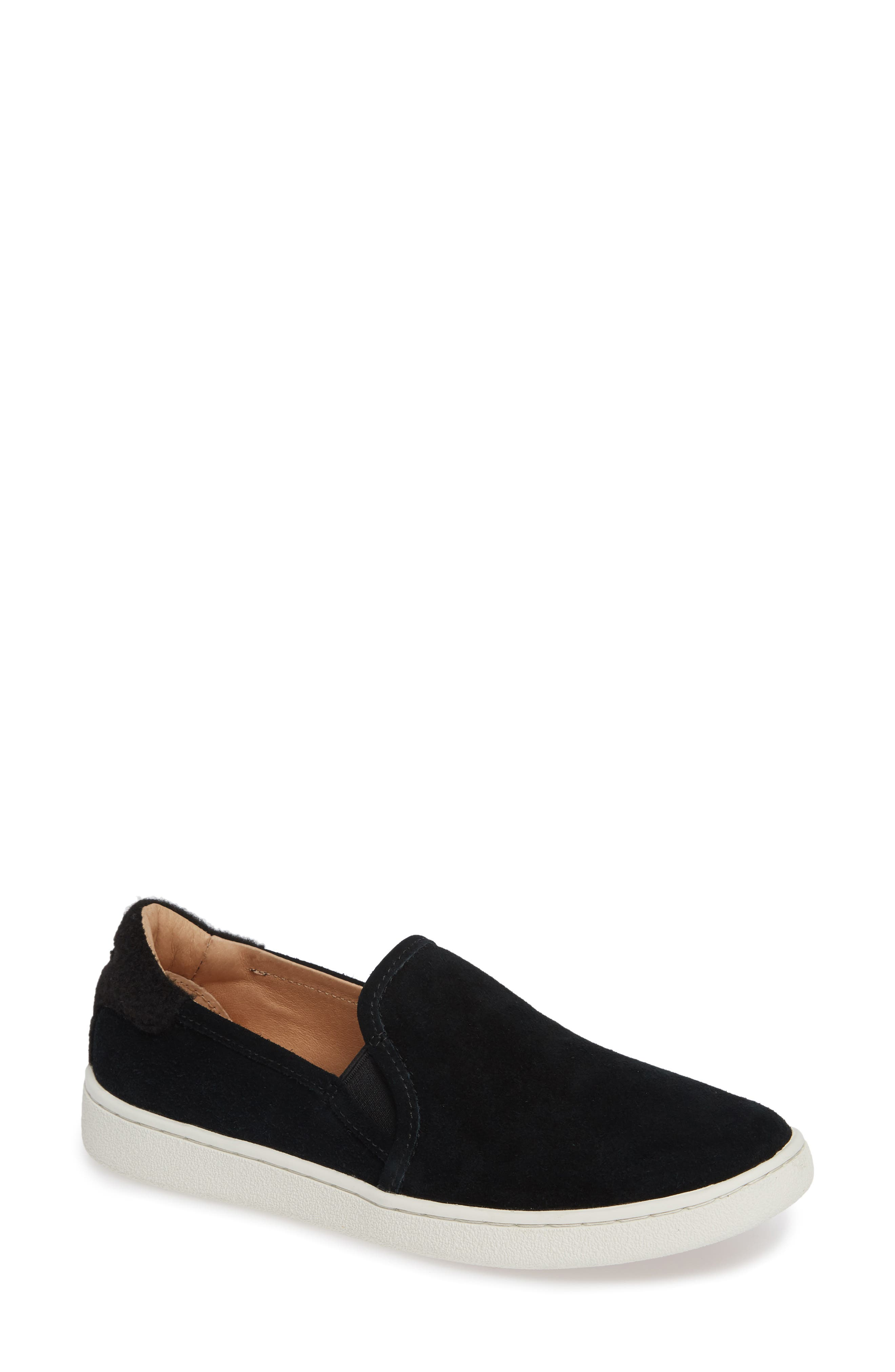 Cas Slip-On Sneaker,                         Main,                         color, BLACK