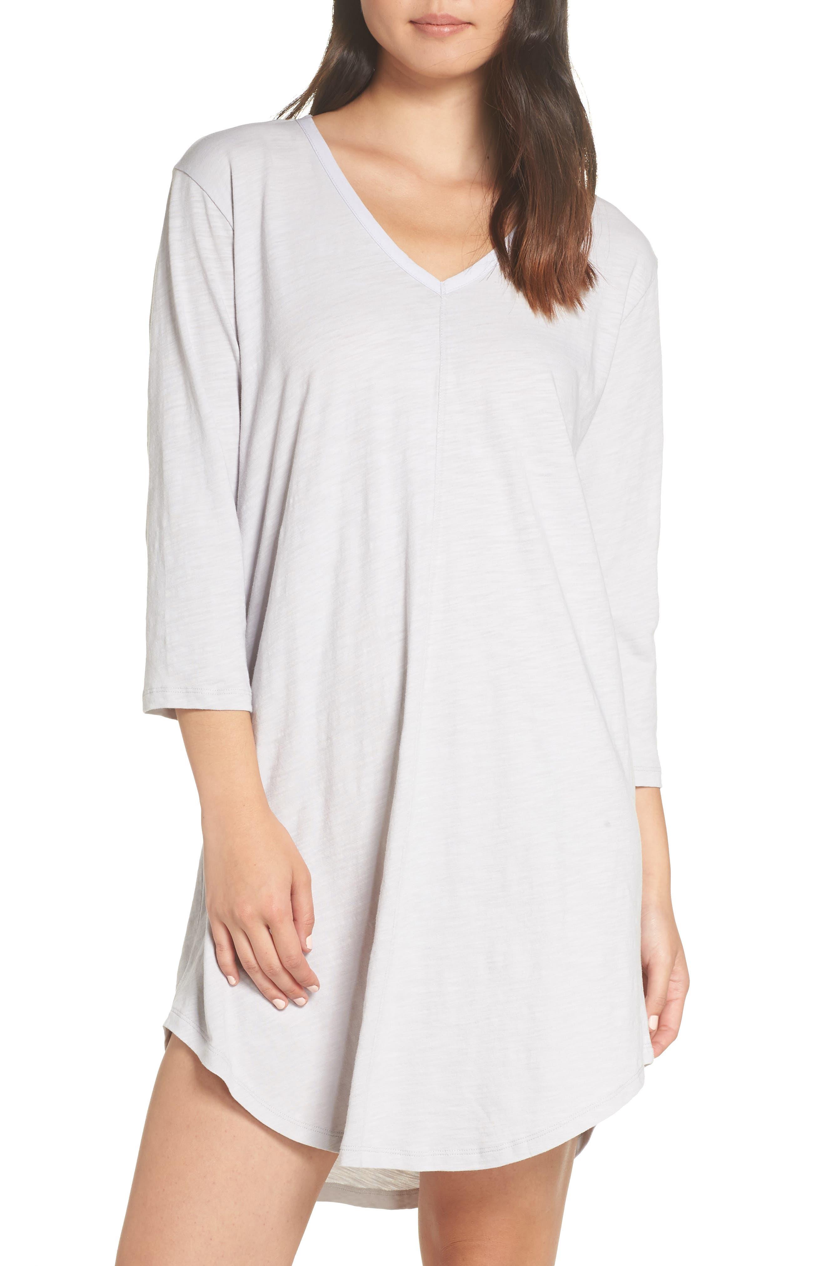 Naked Elements Sleep Shirt, Grey