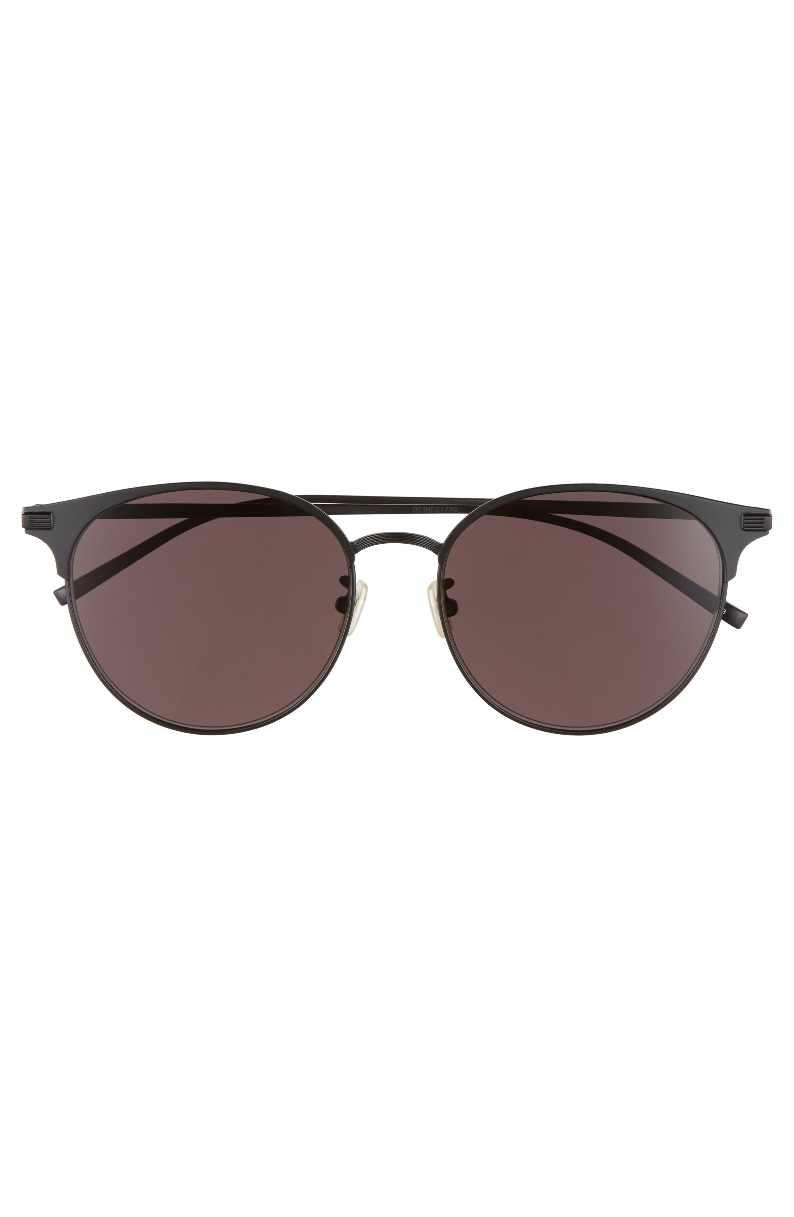 57mm Sunglasses,                             Alternate thumbnail 3, color,                             BLACK