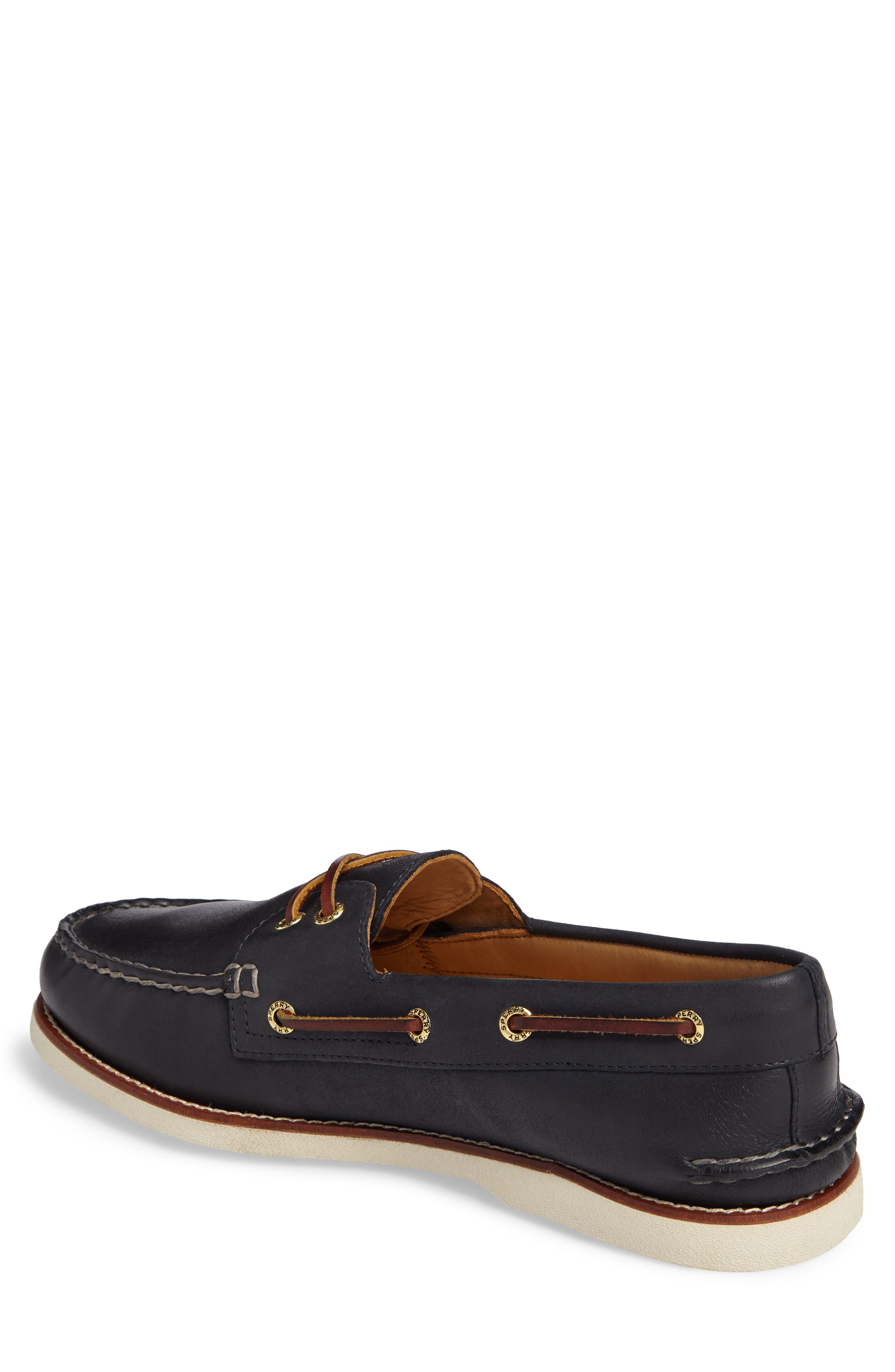 'Gold Cup - Authentic Original' Boat Shoe,                             Alternate thumbnail 2, color,                             NAVY LEATHER