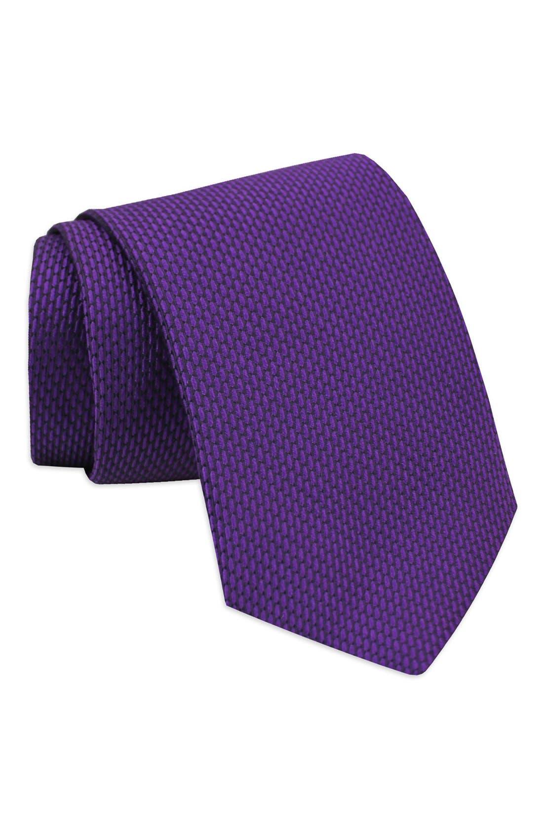 'Neat' Woven Silk Tie,                             Main thumbnail 2, color,