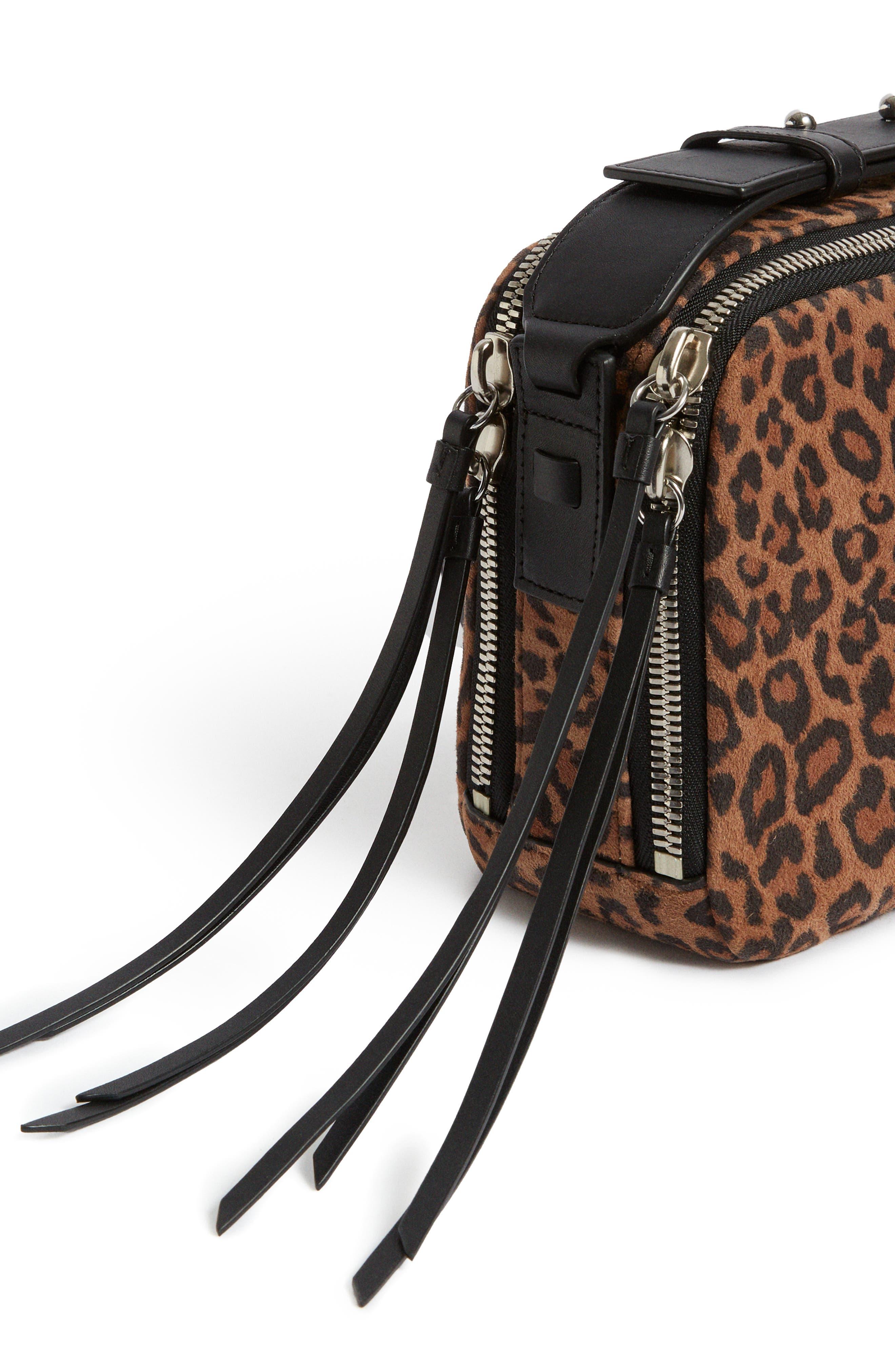 Vincent Leather Crossbody Bag,                             Alternate thumbnail 8, color,                             LEOPARD/ BLACK