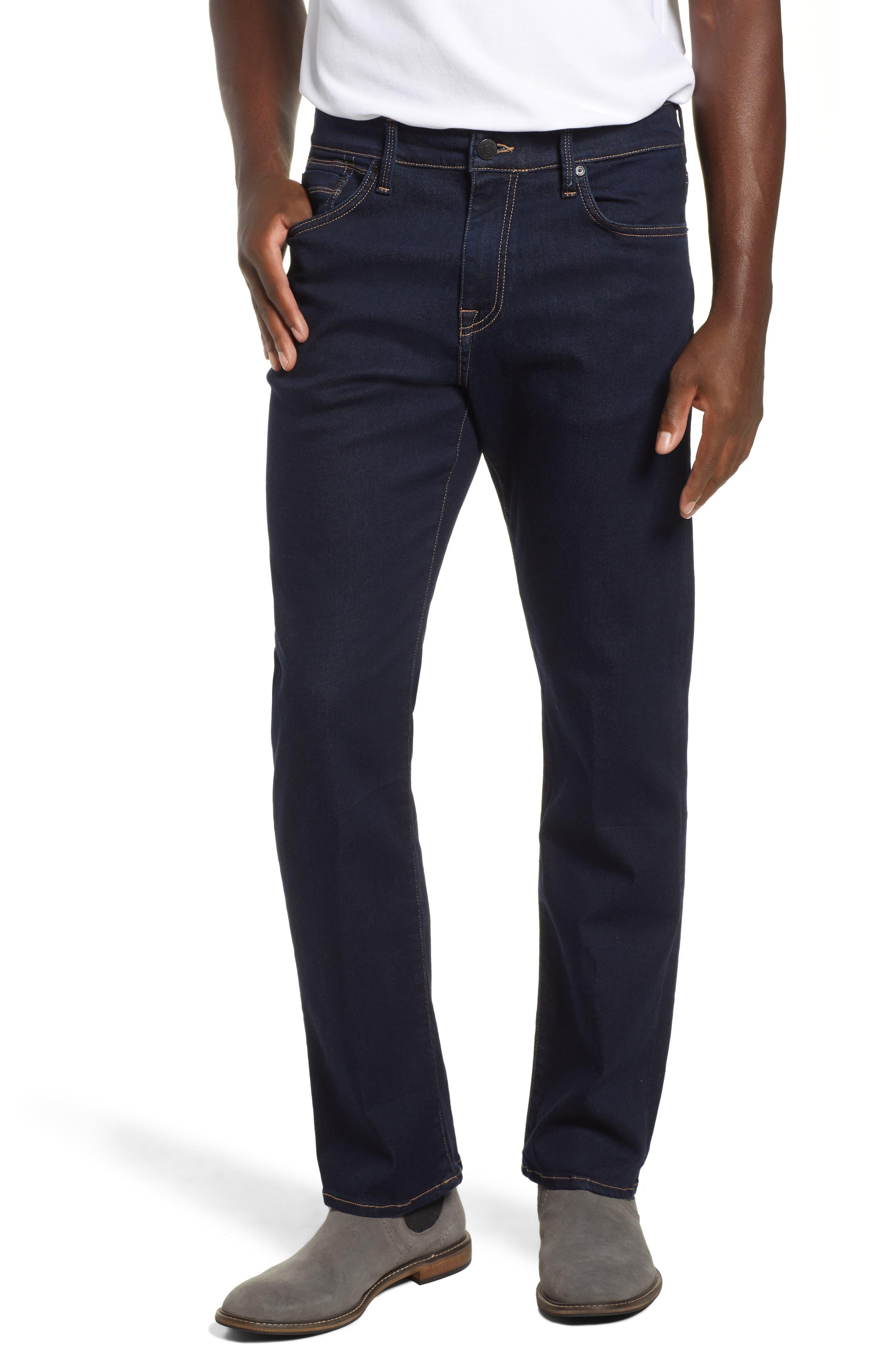 Matt Relaxed Fit Straight Leg Jeans,                             Main thumbnail 1, color,                             DEEP RINSE SOFT MOVE