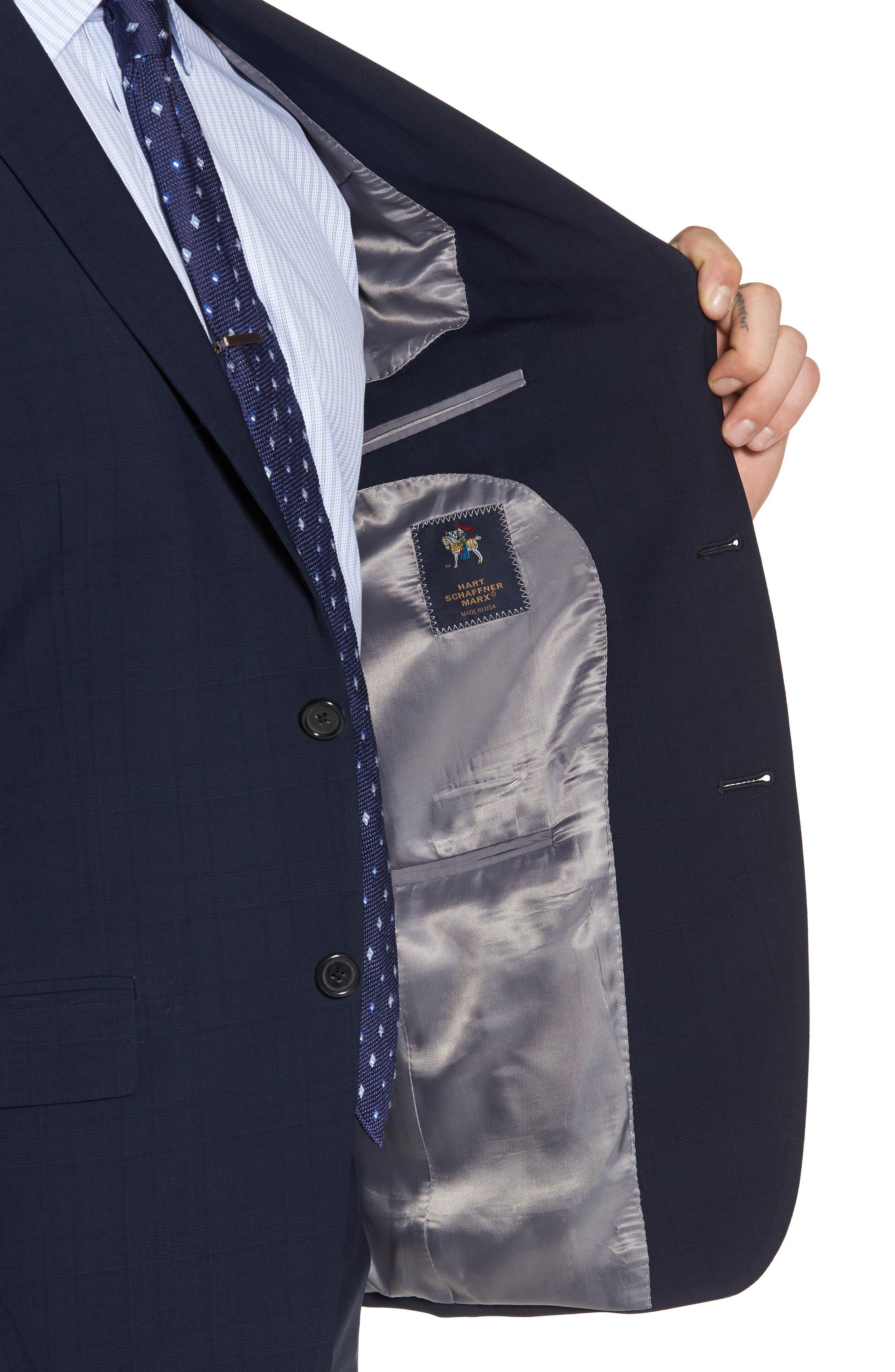 New York Classic Fit Plaid Wool Suit,                             Alternate thumbnail 4, color,                             400
