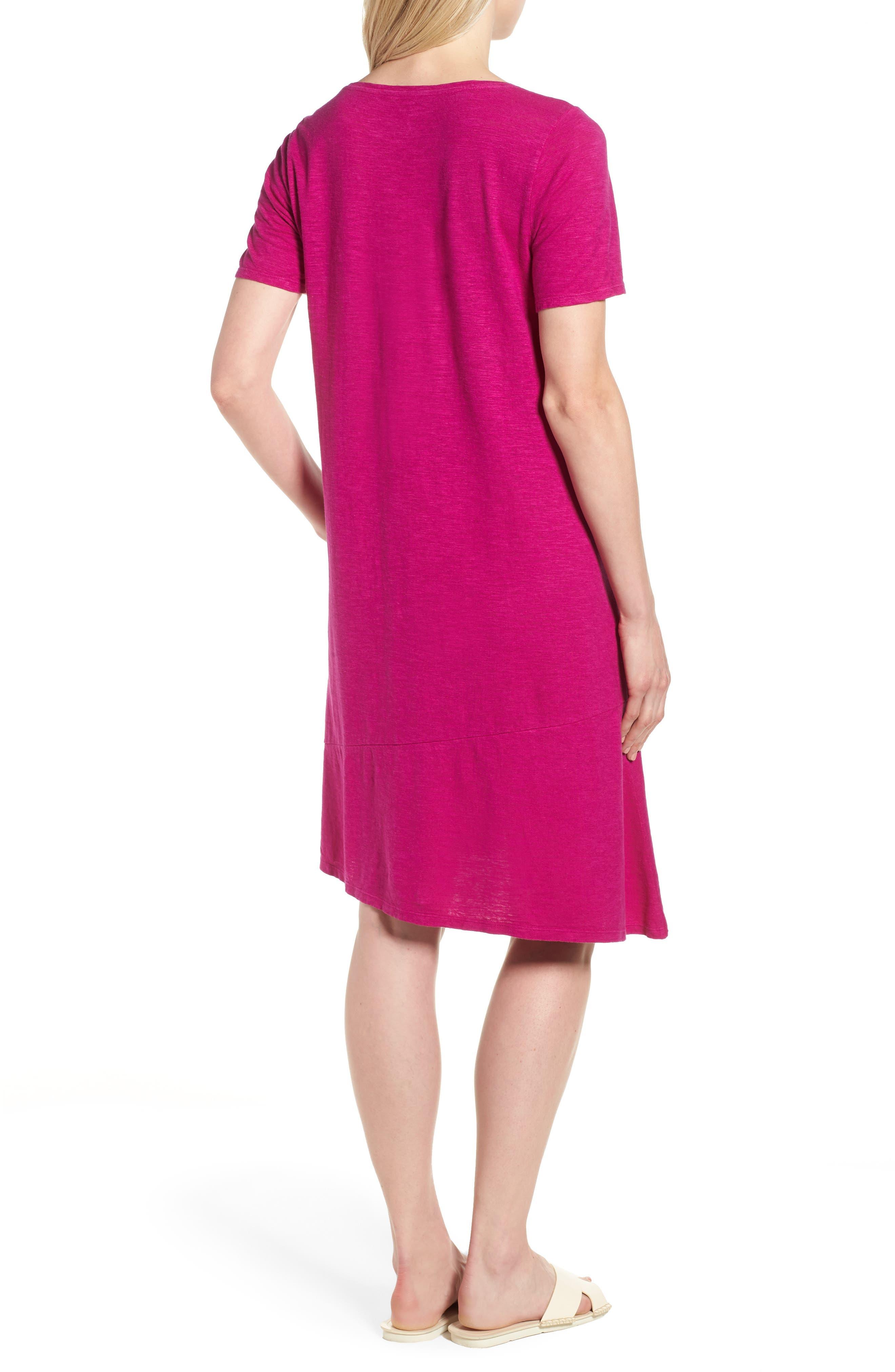 Asymmetrical Hemp Blend Shift Dress,                             Alternate thumbnail 7, color,