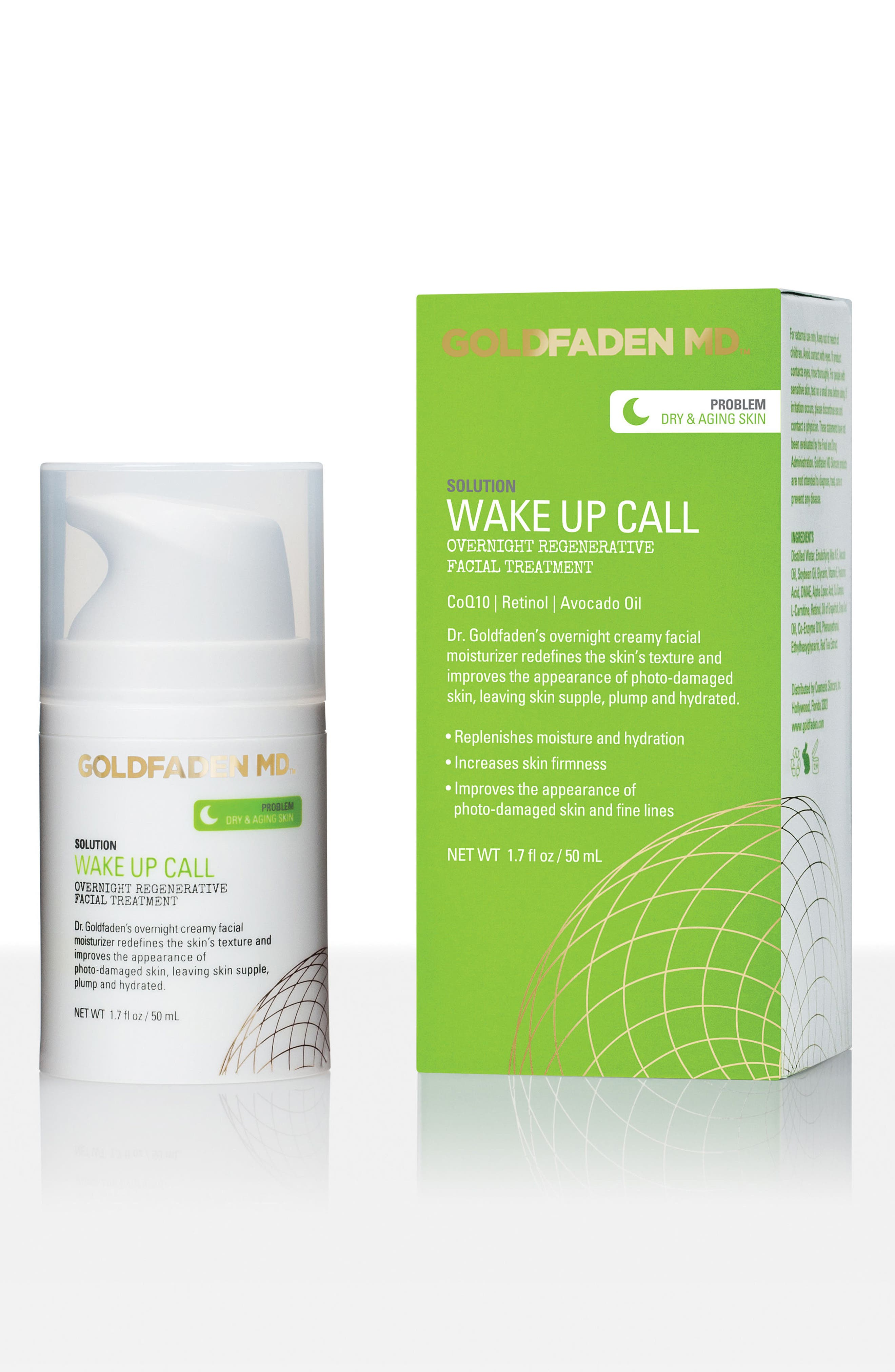 SPACE.NK.apothecary Goldfaden MD Wake Up Call Overnight Regenerative Facial Treatment,                         Main,                         color, 000