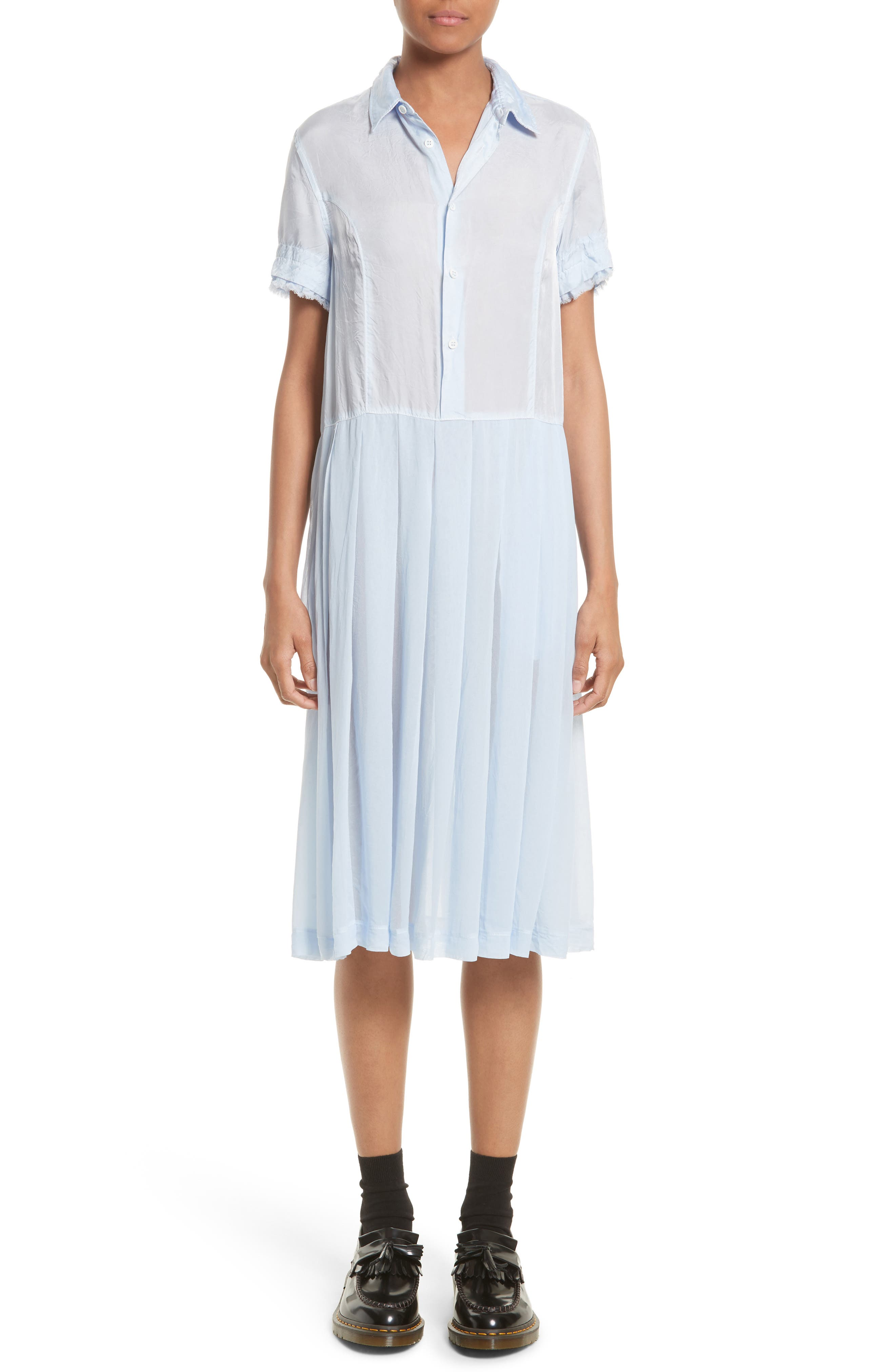 TRICOT COMME DES GARCONS Shirtdress in Sax