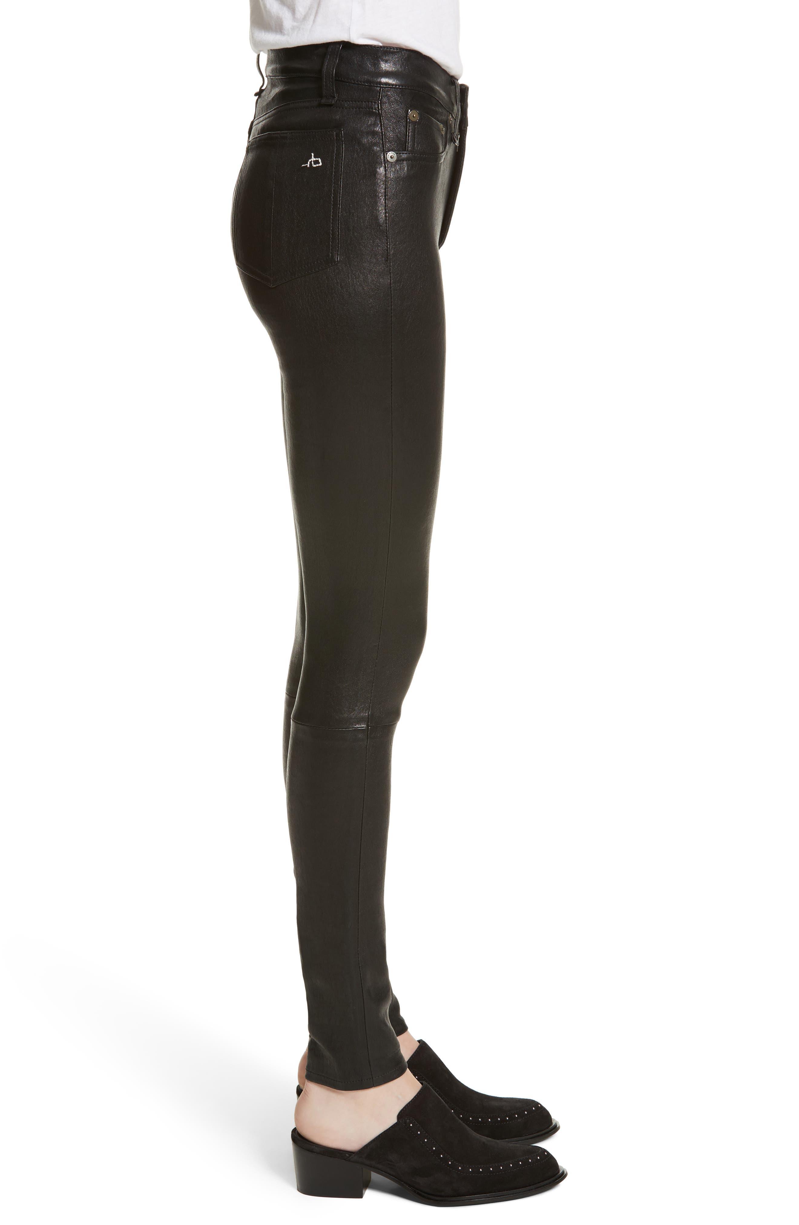 Lambskin Leather Pants,                             Alternate thumbnail 10, color,