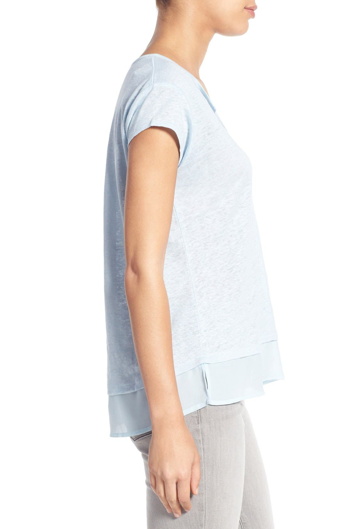 City Mix Layered Look Tee,                             Alternate thumbnail 73, color,