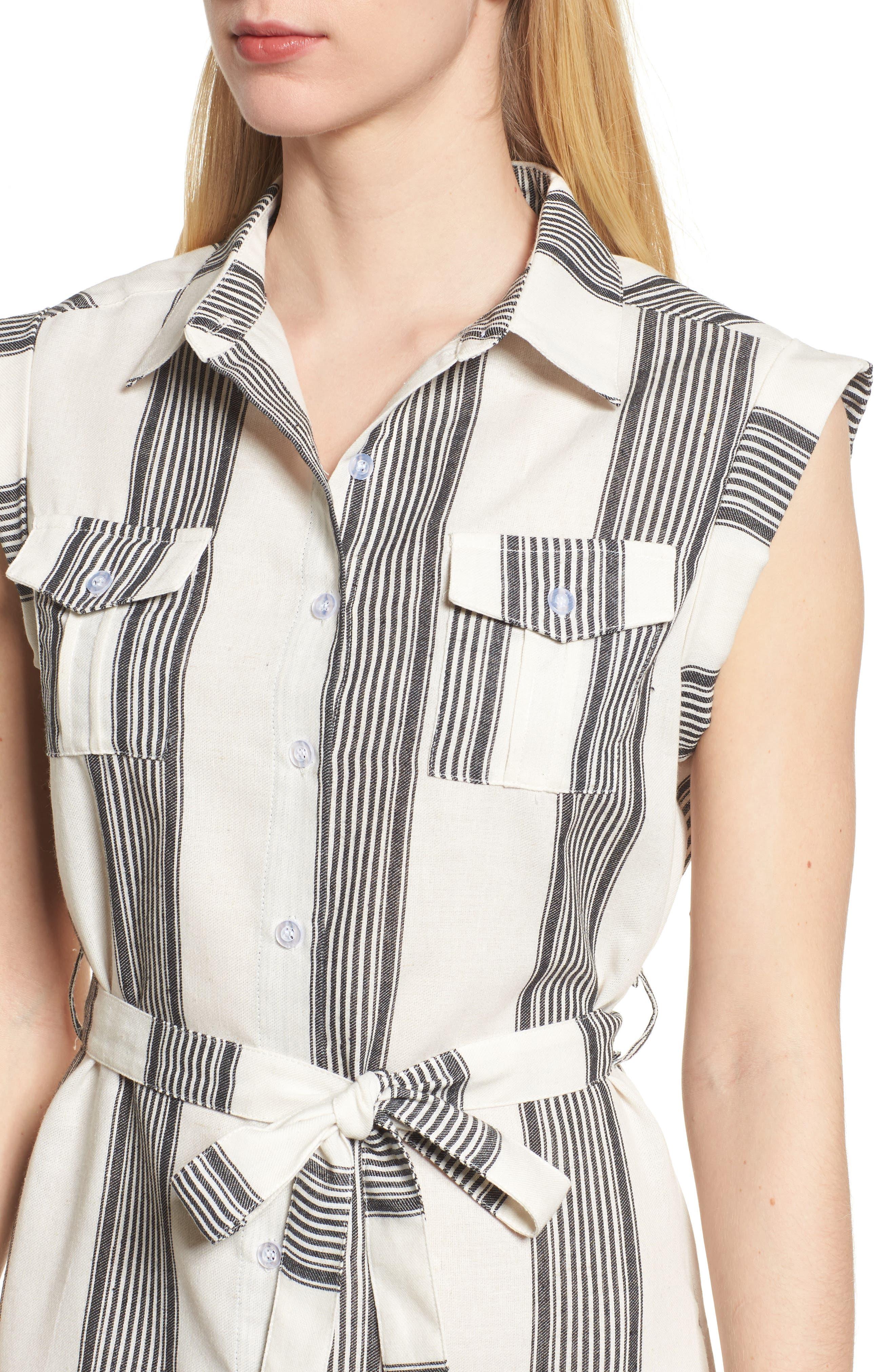 Bishop + Young Stripe Shirtdress,                             Alternate thumbnail 4, color,