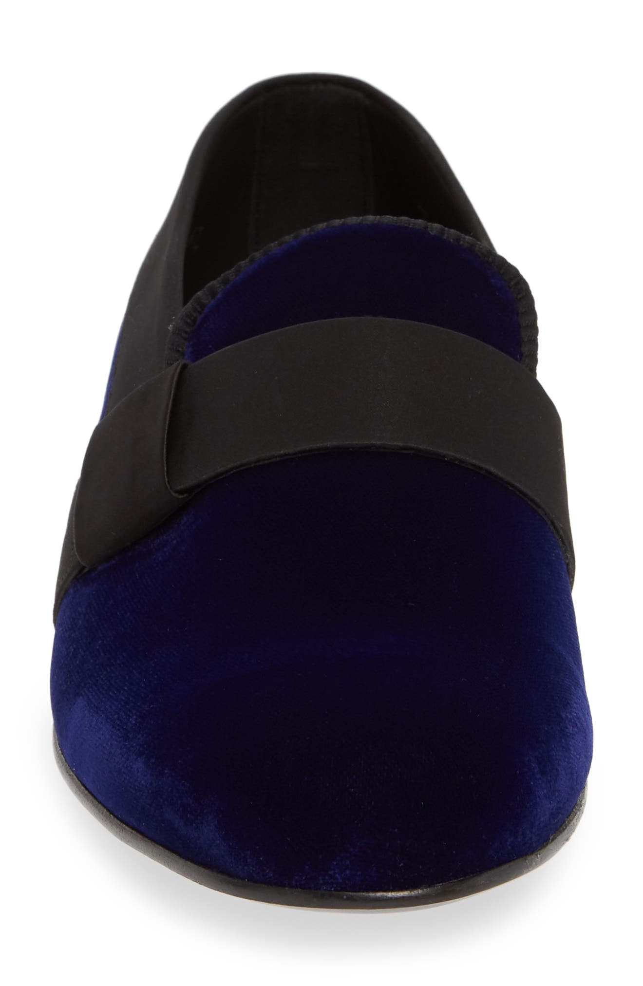 Palance Velvet Slip-On,                             Alternate thumbnail 4, color,                             BLUE VELVET