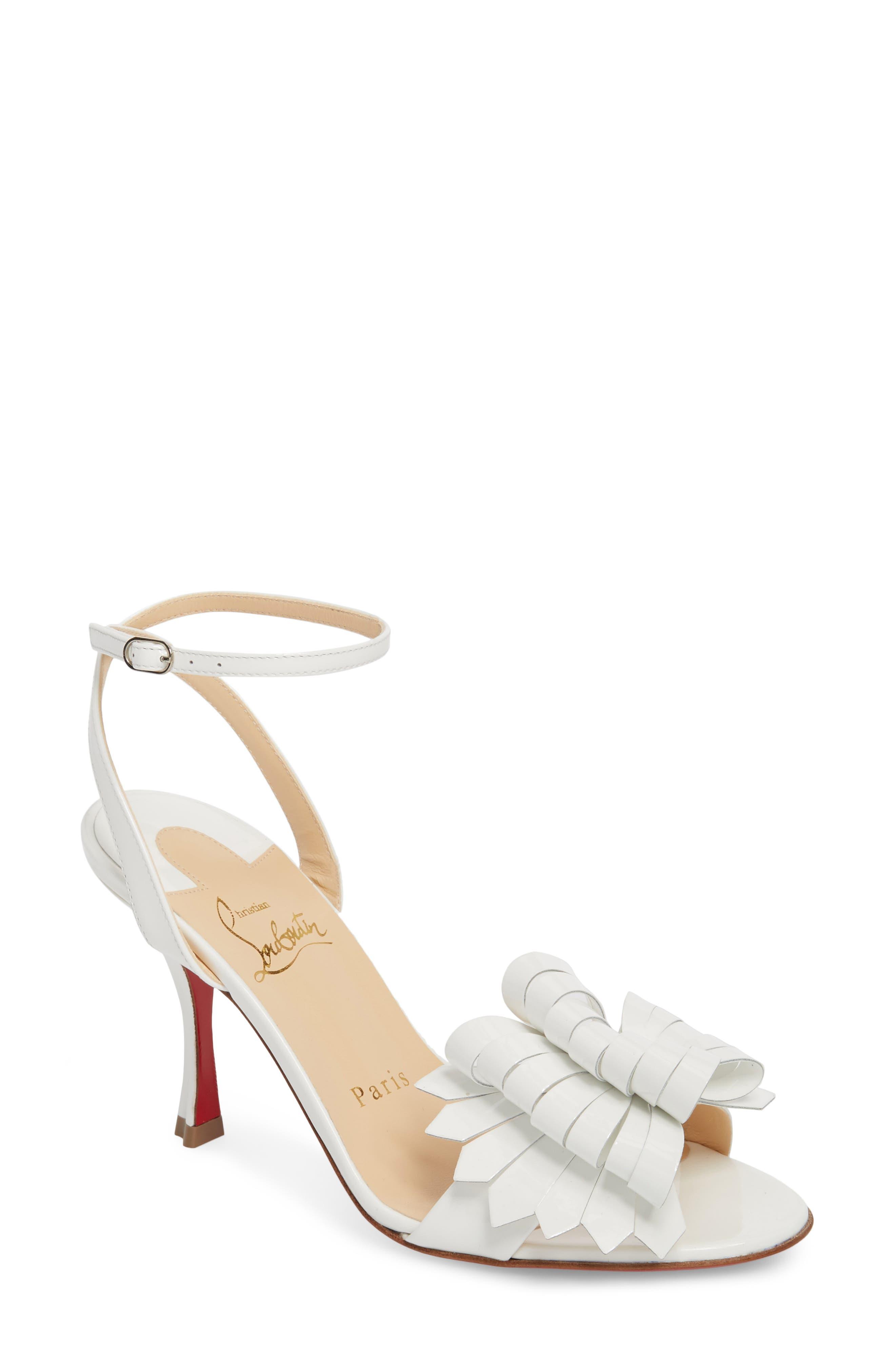 Miss Valois Bow Ankle Strap Sandal,                             Main thumbnail 2, color,