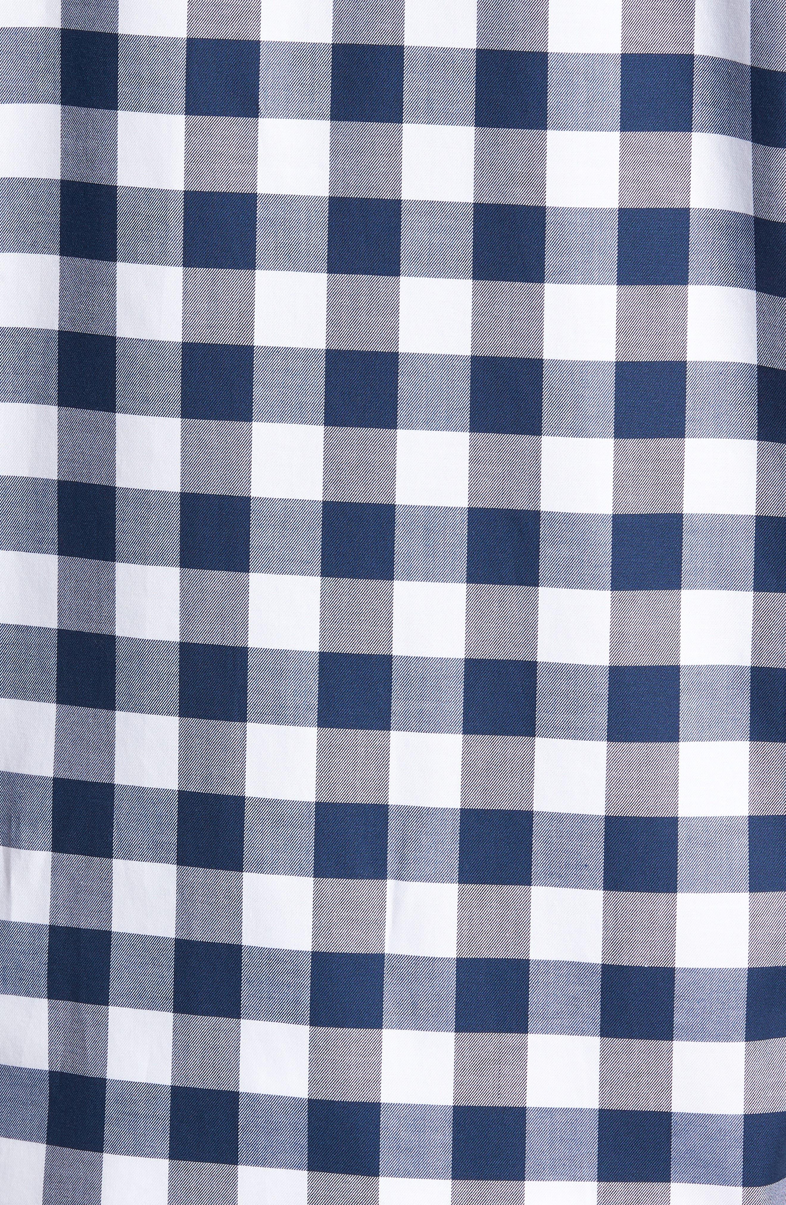 Regular Fit Buffalo Check Sport Shirt,                             Alternate thumbnail 5, color,                             422