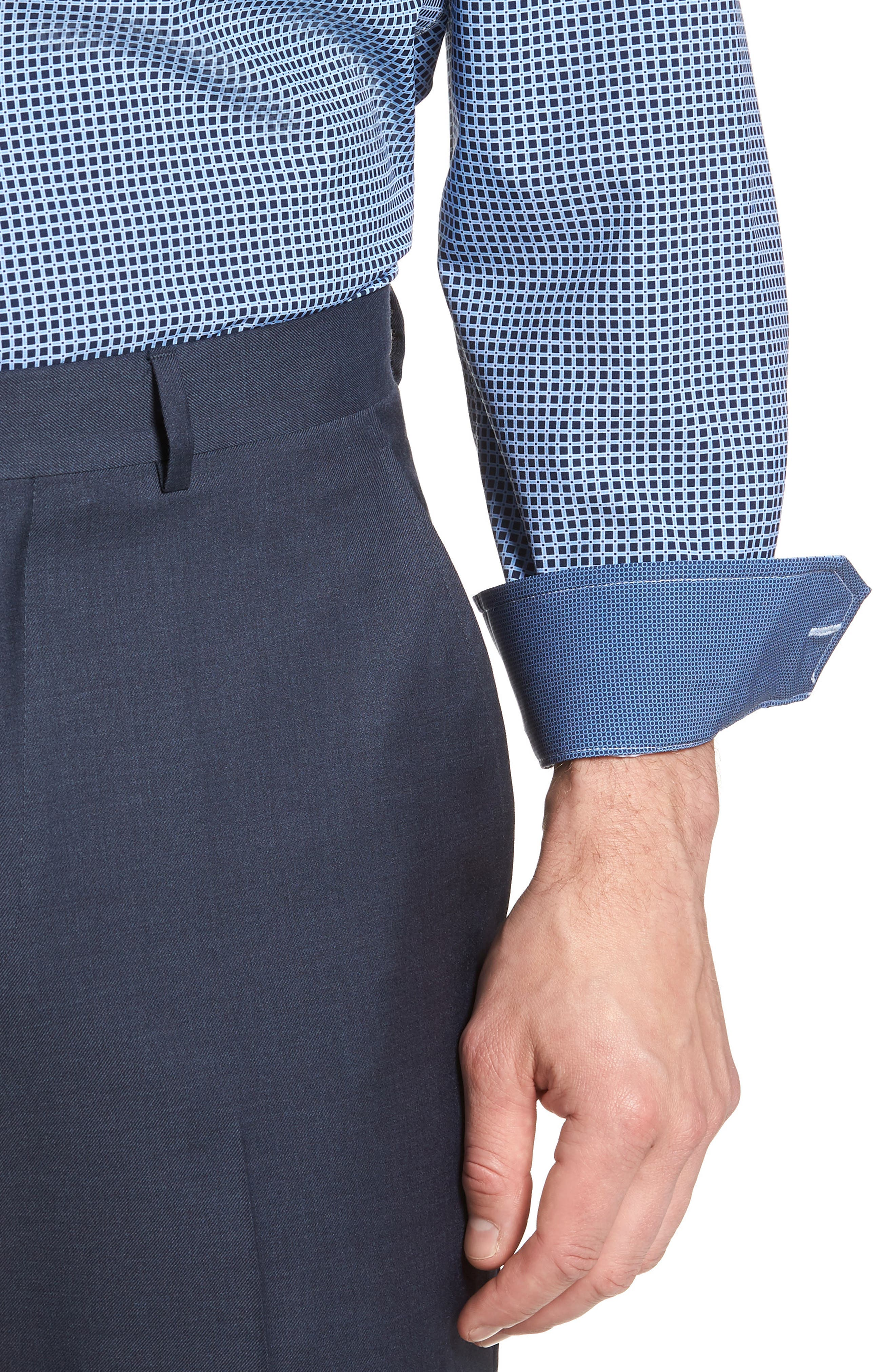 W.R.K,                             Trim Fit Check 4-Way Stretch Dress Shirt,                             Alternate thumbnail 2, color,                             410