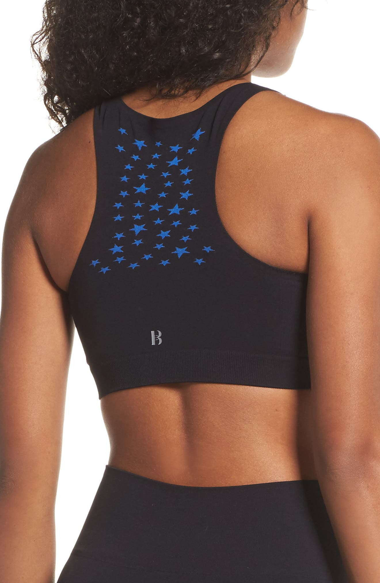 BoomBoom Athletic Seamless Star Sports Bra,                             Alternate thumbnail 2, color,                             005