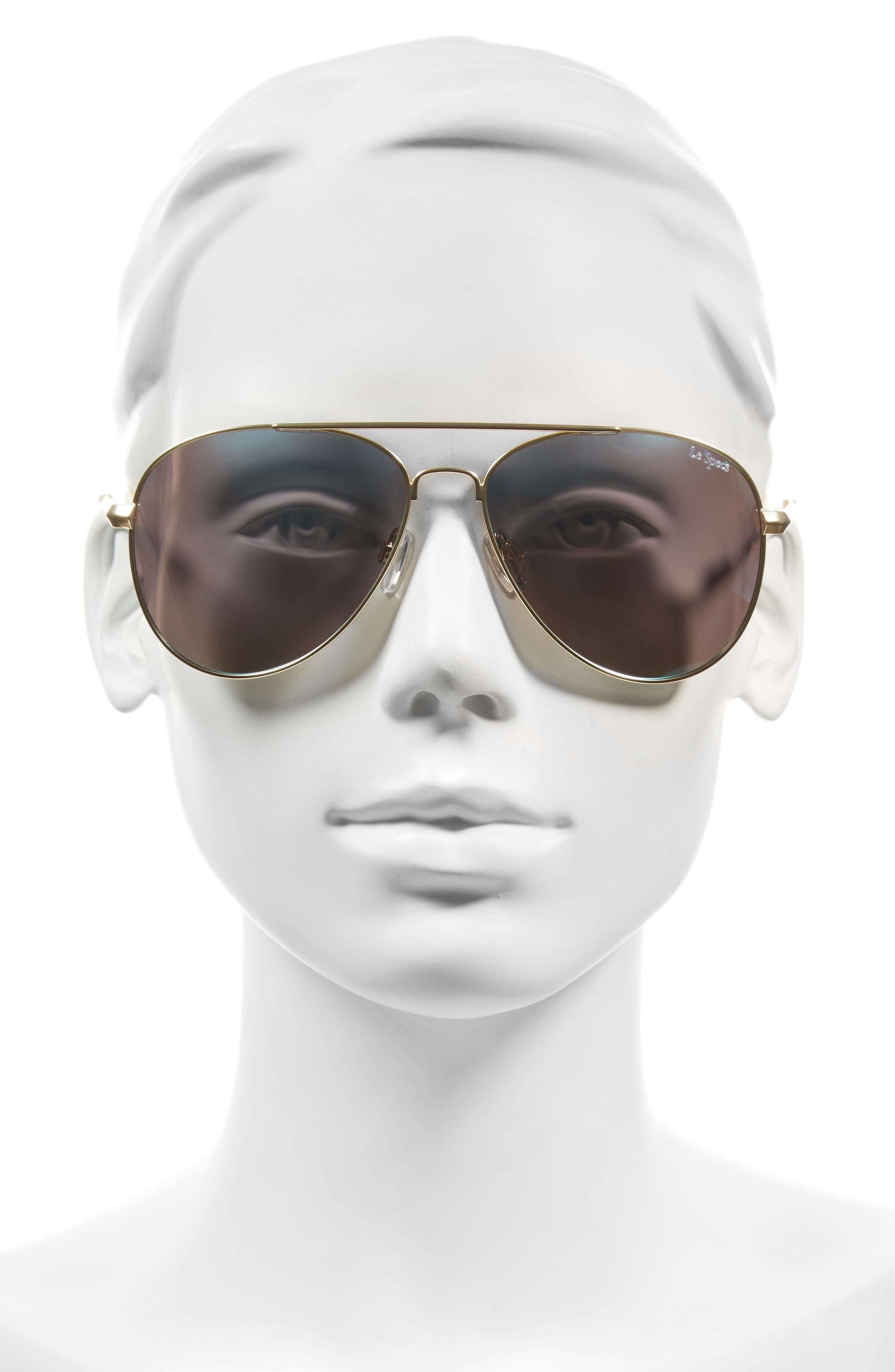 Drop Top 60mm Polarized Aviator Sunglasses,                             Alternate thumbnail 3, color,                             710