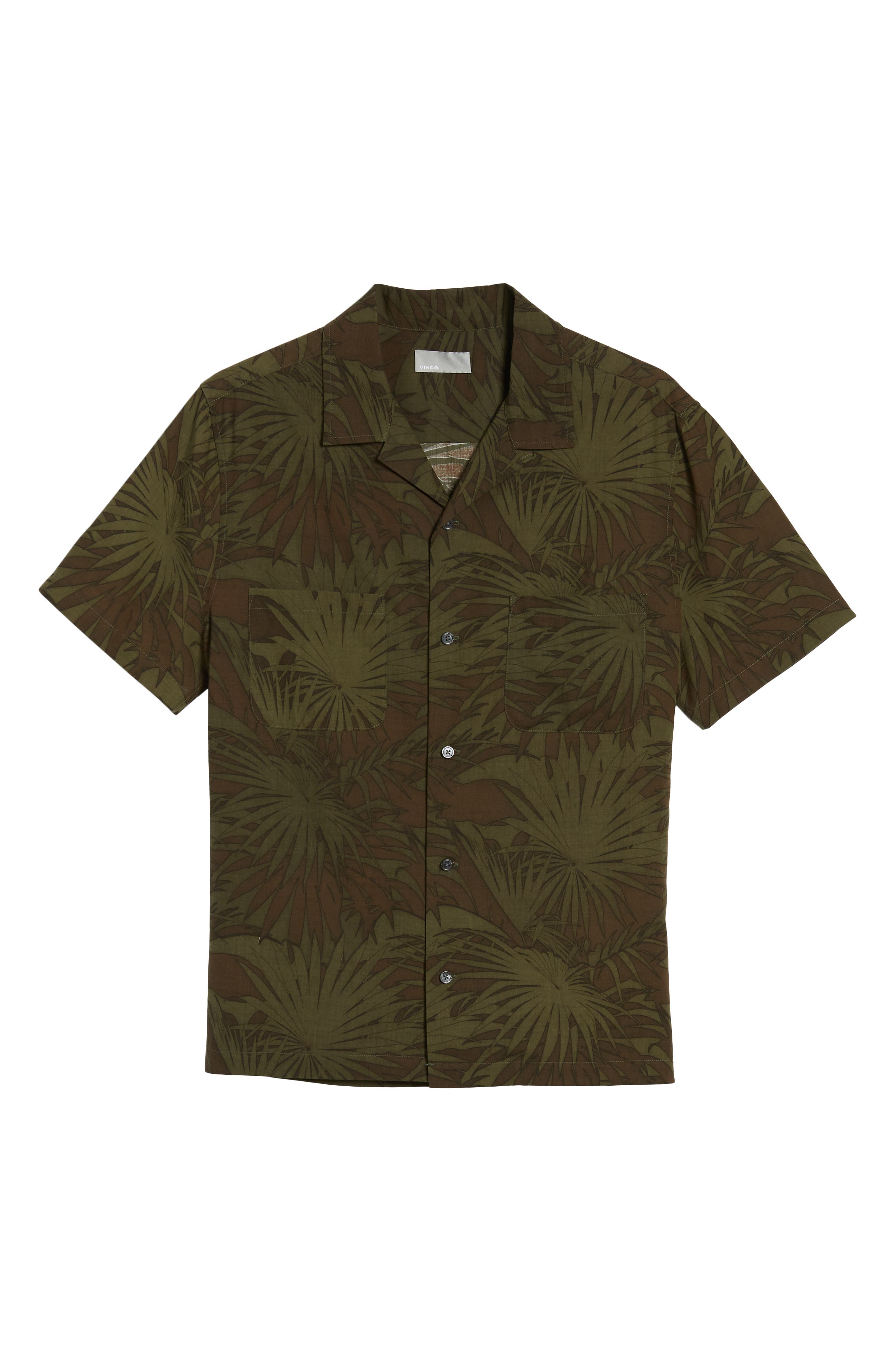 Palm Leaf Cabana Woven Shirt,                             Alternate thumbnail 6, color,                             FOLIAGE/ DRIED HERB