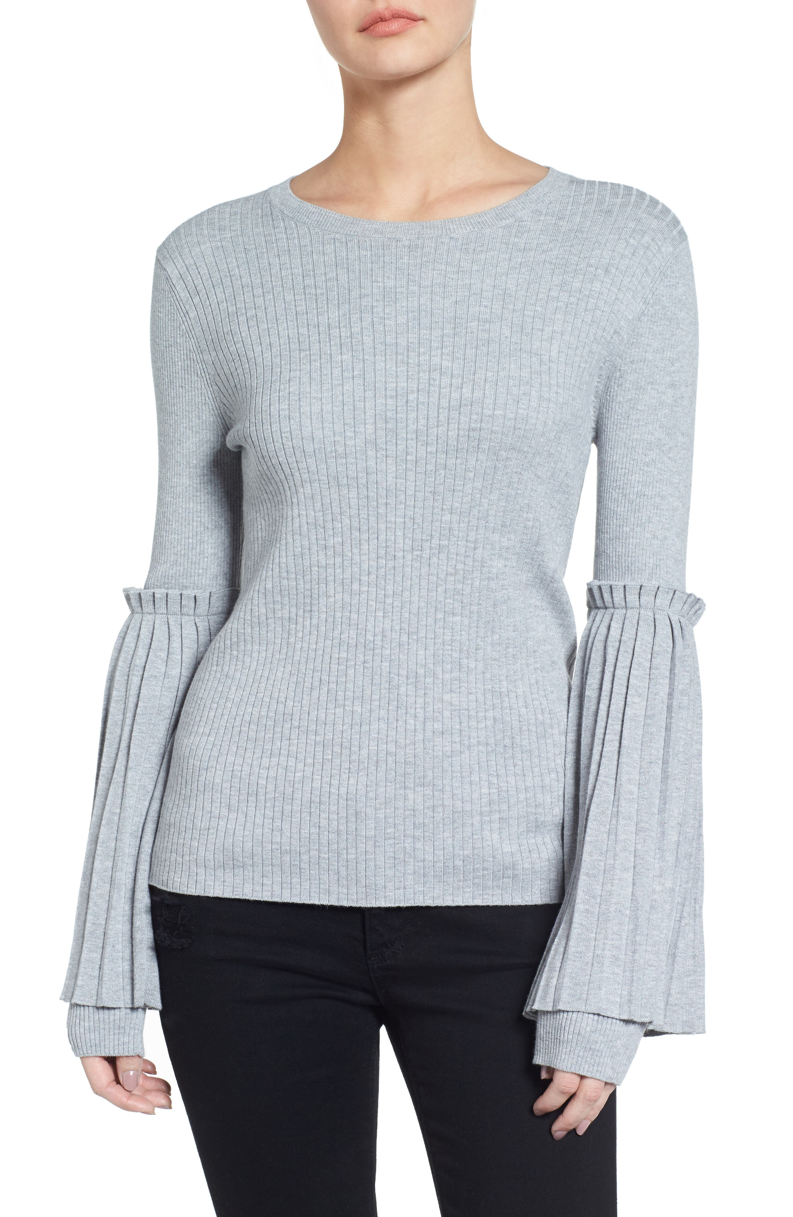 Bell Sleeve Sweater,                             Main thumbnail 1, color,                             050