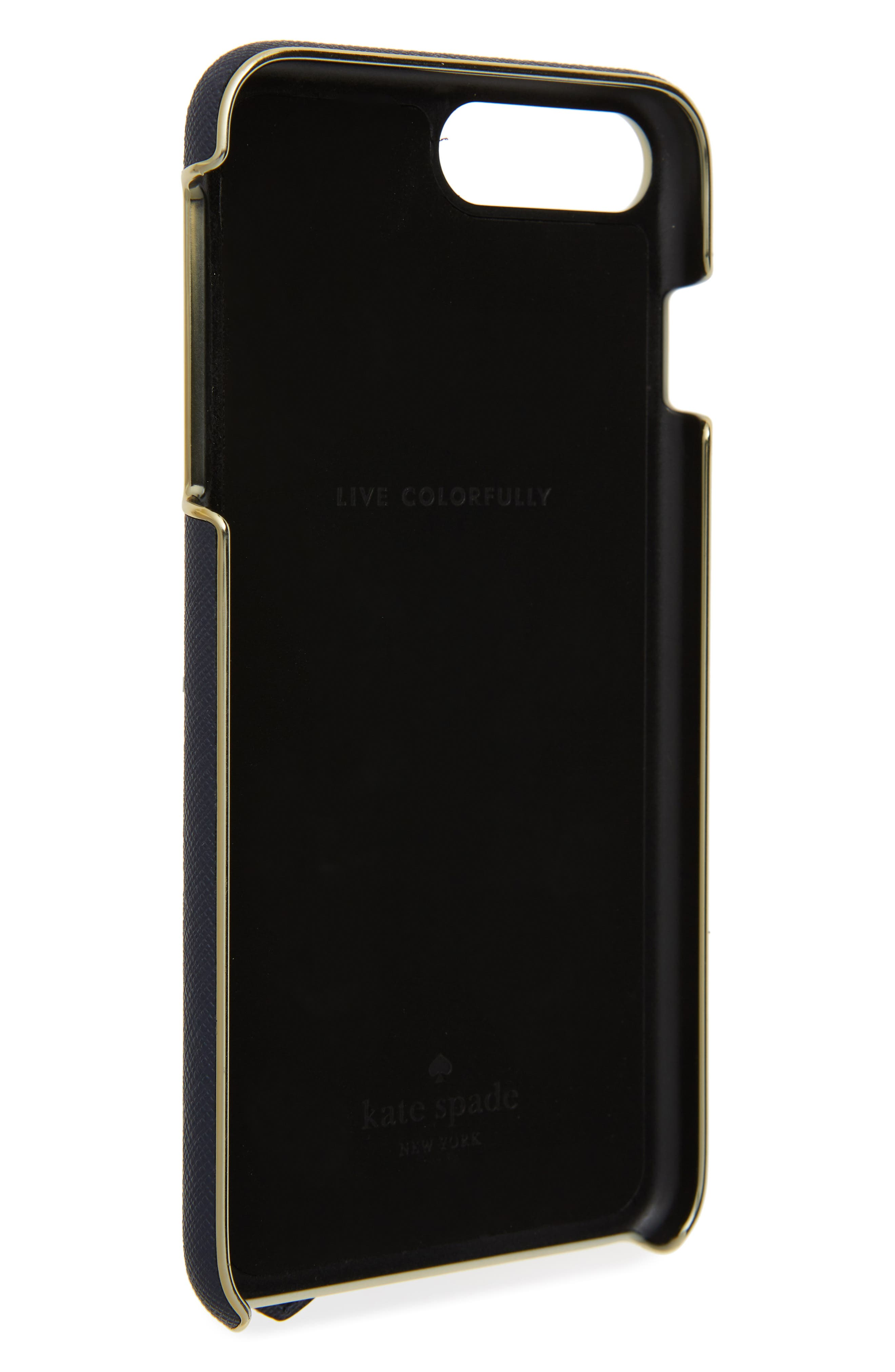 floral hand strap stand iPhone 7/8 Plus case,                             Alternate thumbnail 2, color,                             001