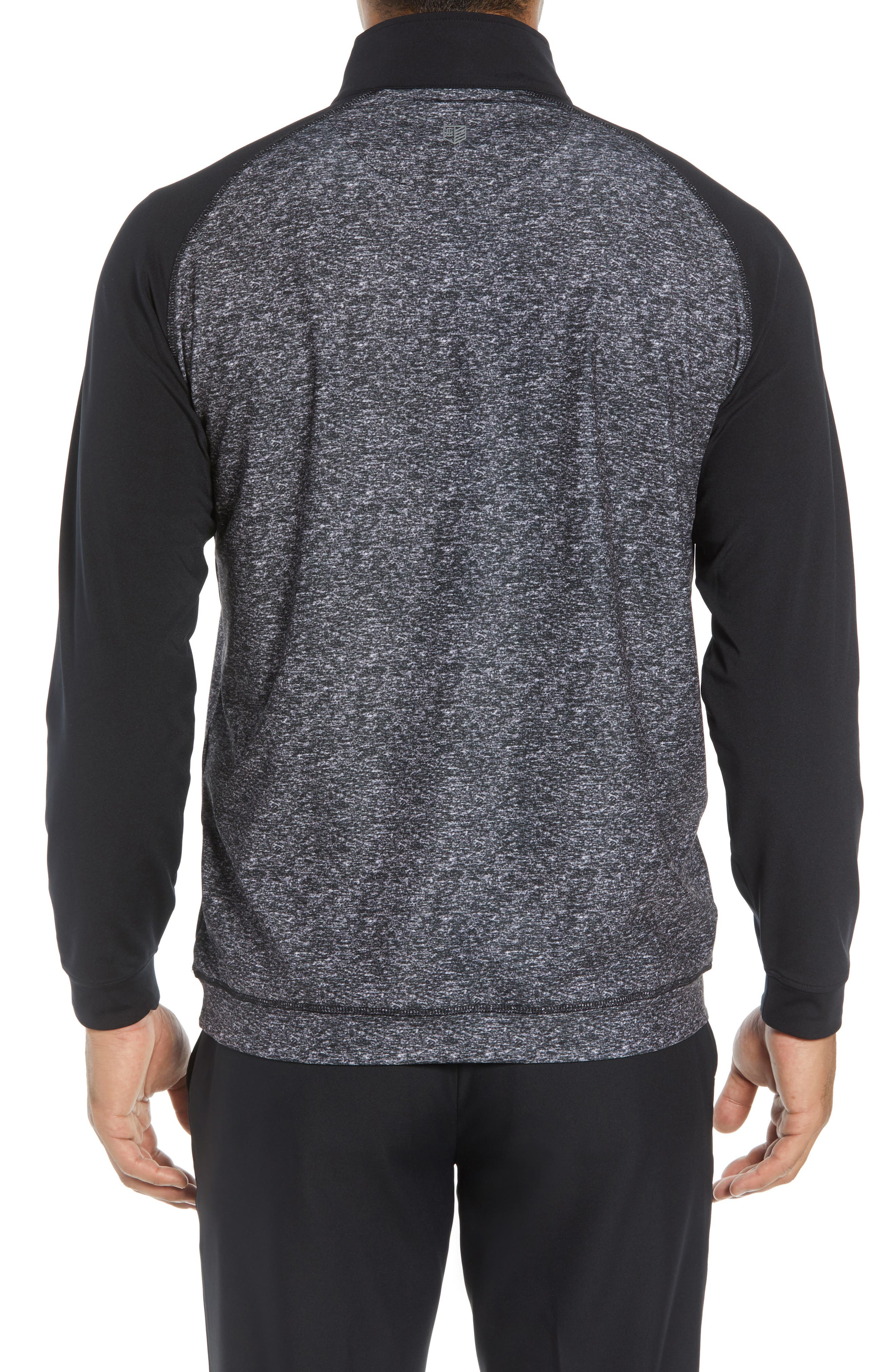 Rule 18 Tech Raglan Pullover,                             Alternate thumbnail 2, color,                             BLACK