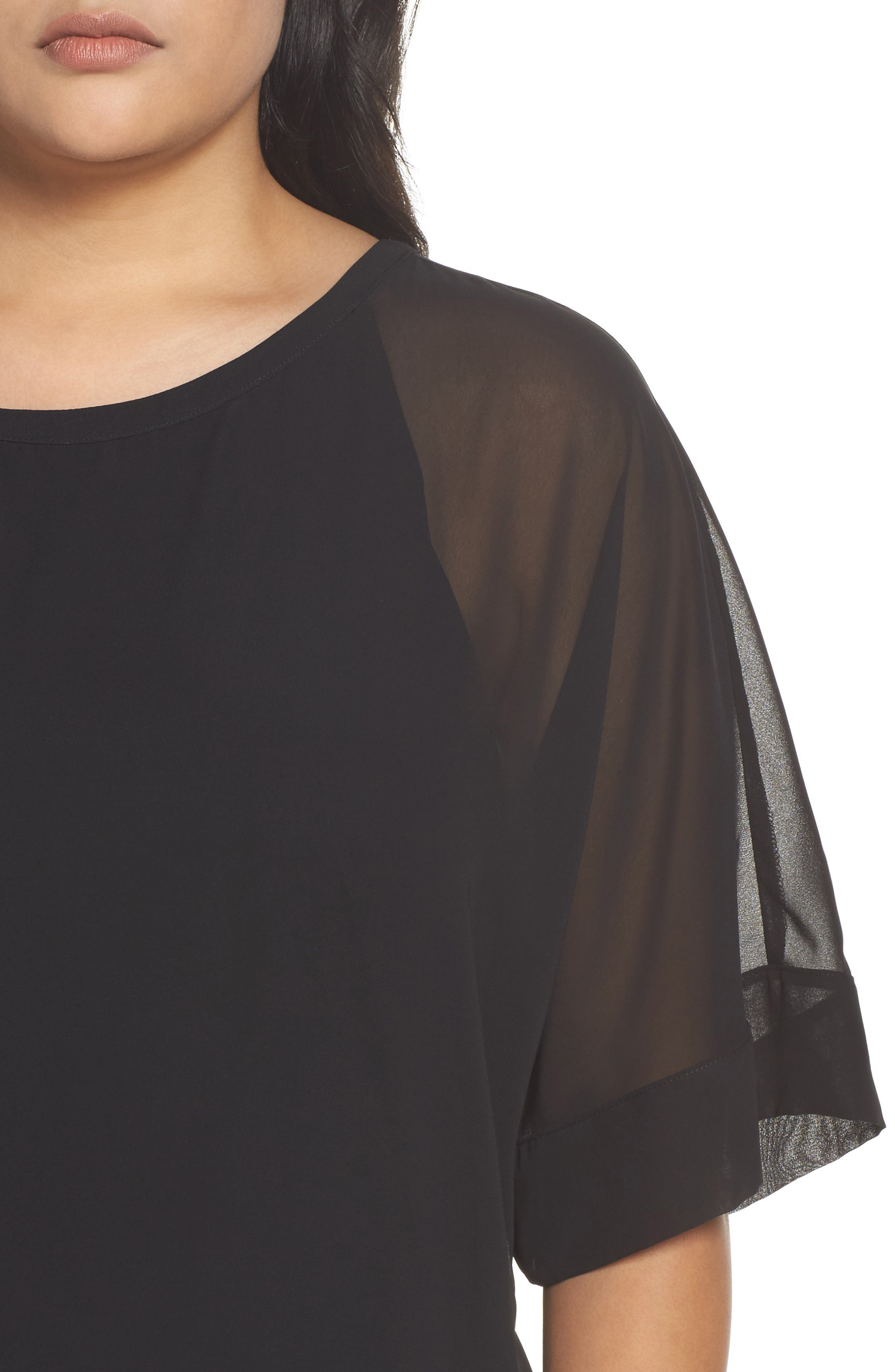 Kimono Layered Top,                             Alternate thumbnail 4, color,                             001