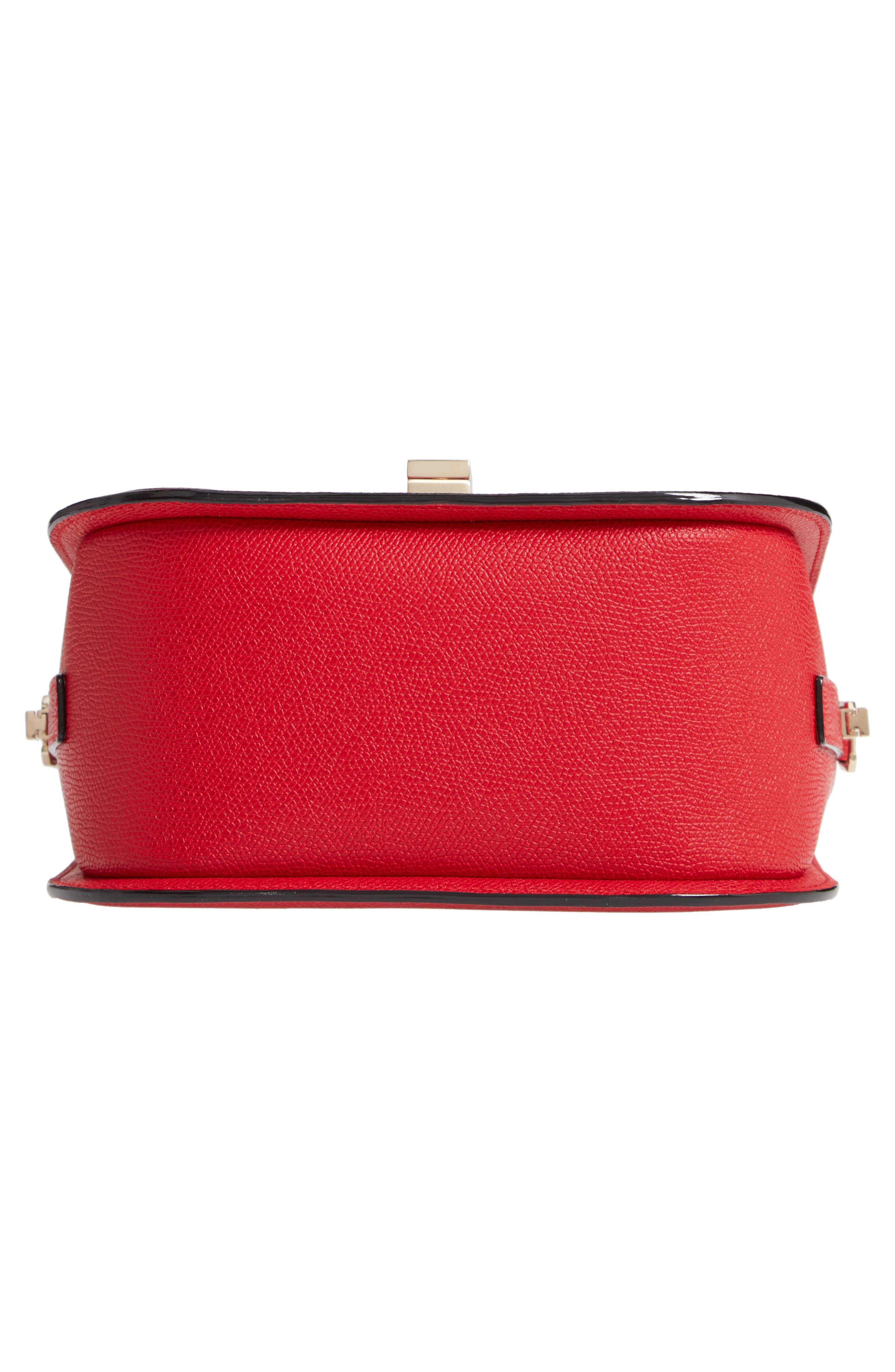 Iside Leather Top Handle Bag,                             Alternate thumbnail 6, color,                             RED