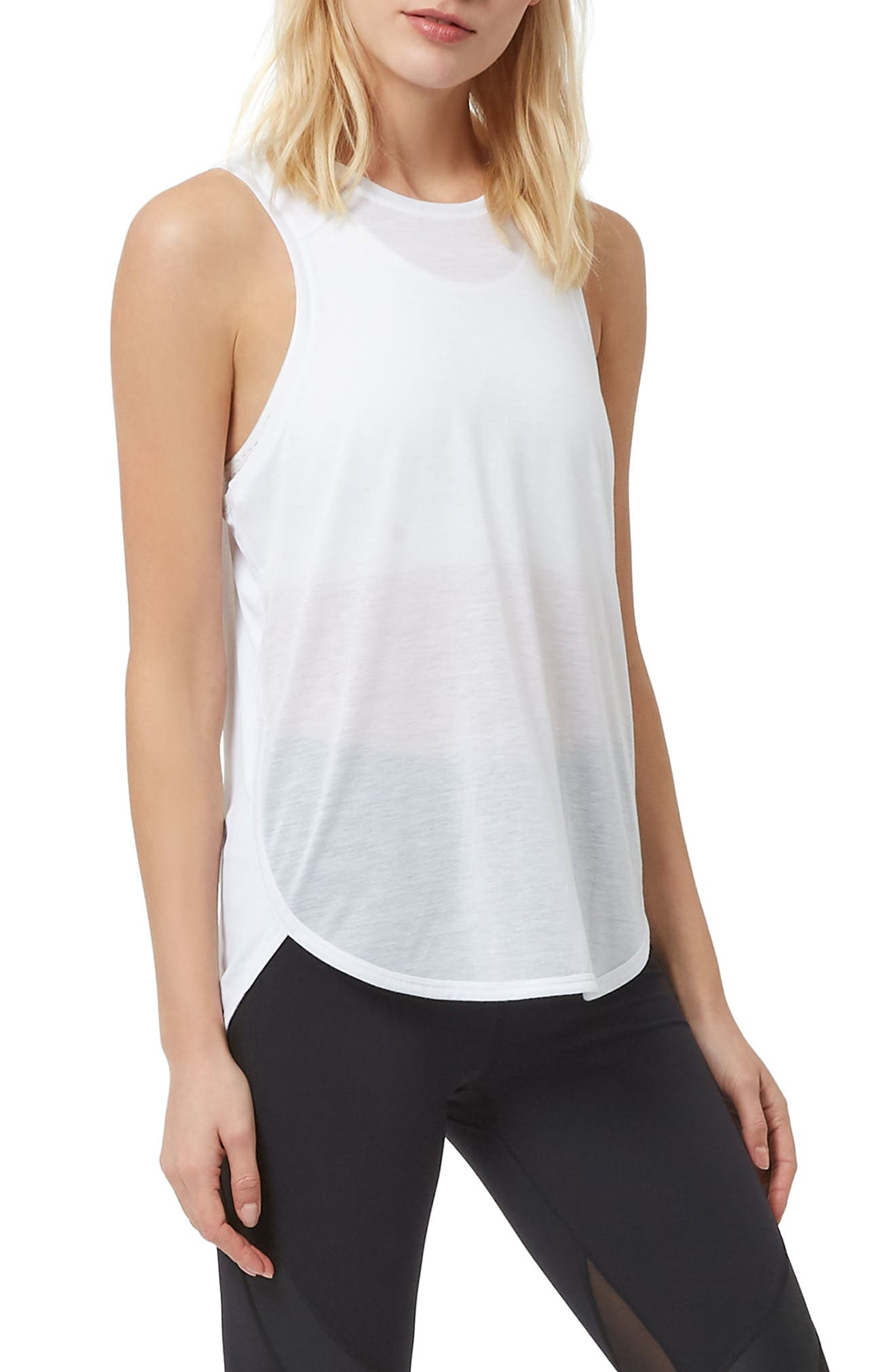 Pacesetter Run Tank,                         Main,                         color, WHITE