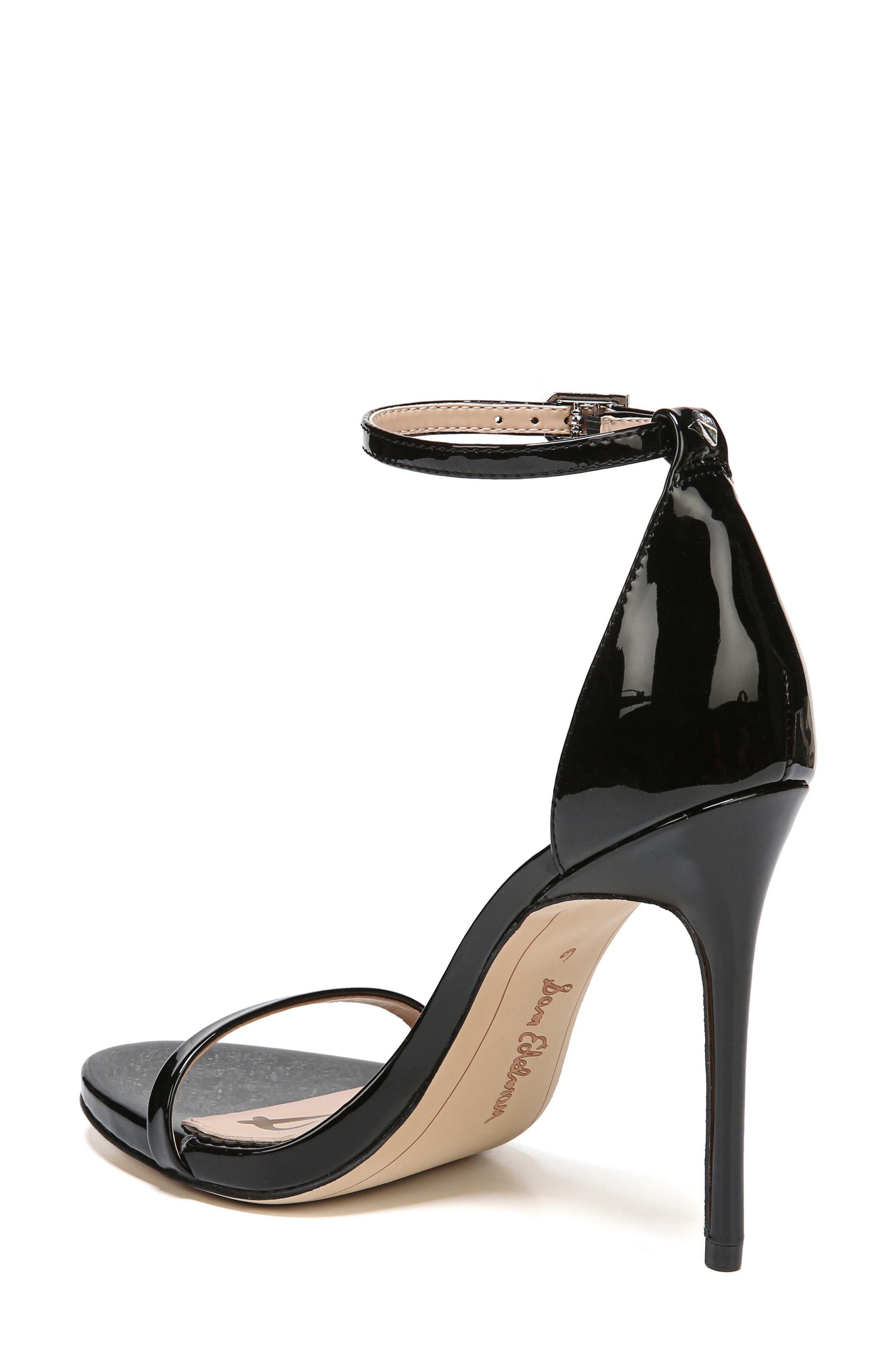 Ariella Ankle Strap Sandal,                             Alternate thumbnail 2, color,                             BLACK PATENT LEATHER