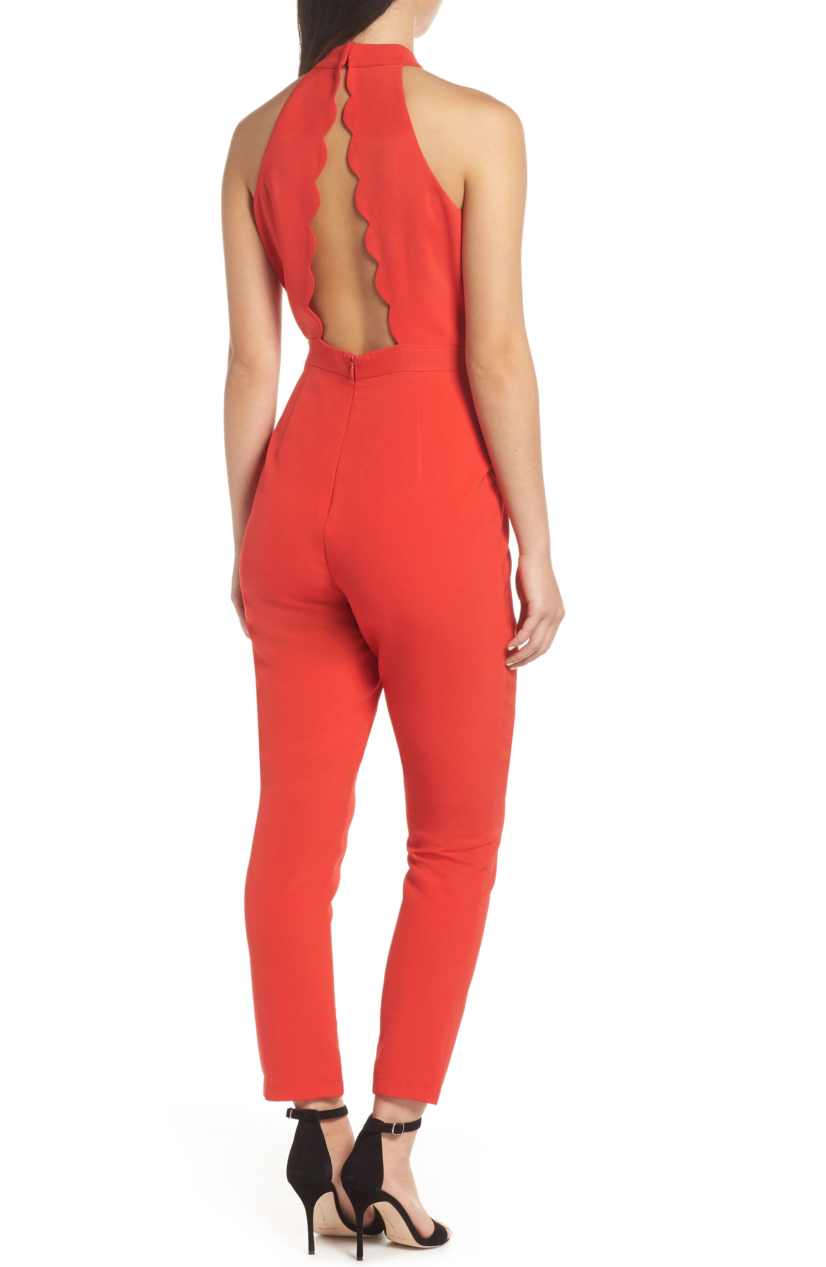 ADELYN RAE,                             Shaylie Scalloped Back Jumpsuit,                             Alternate thumbnail 2, color,                             600