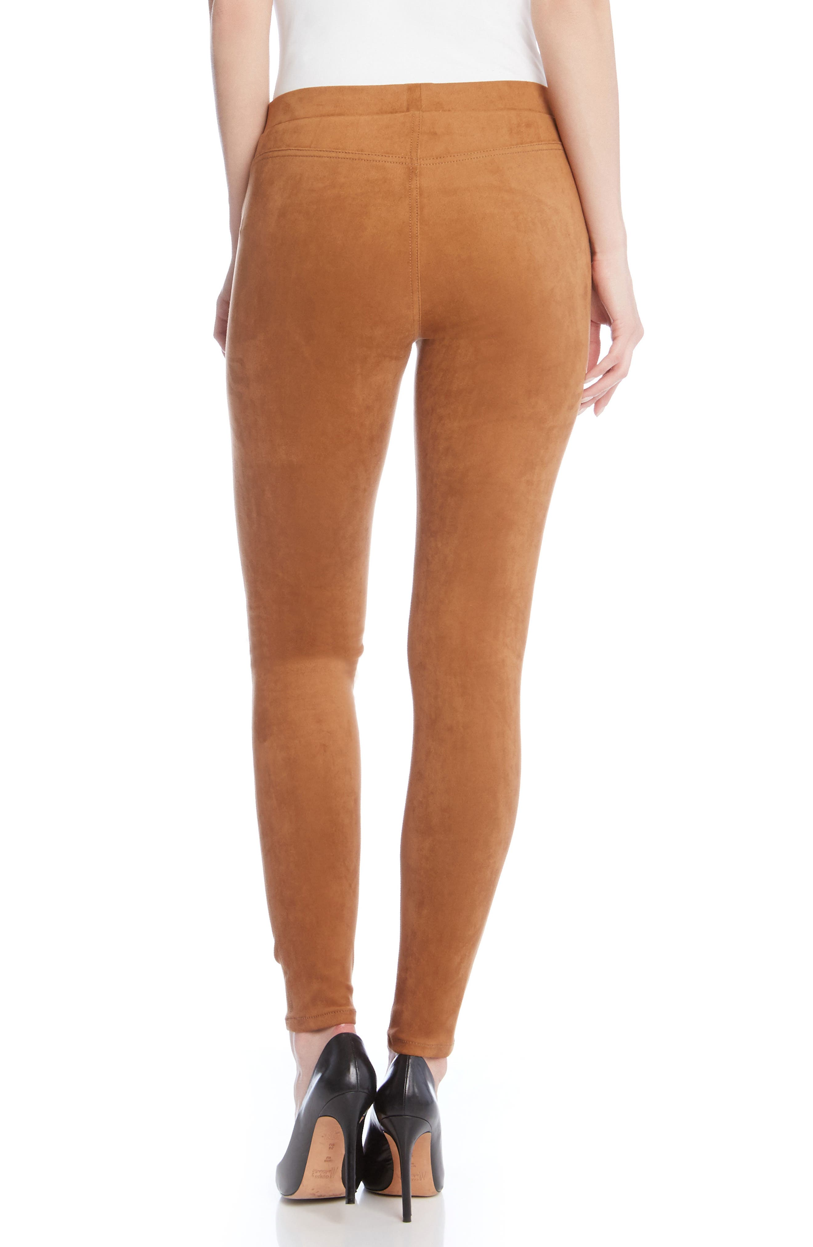 Faux Suede Knit Skinny Pants,                             Alternate thumbnail 2, color,                             004