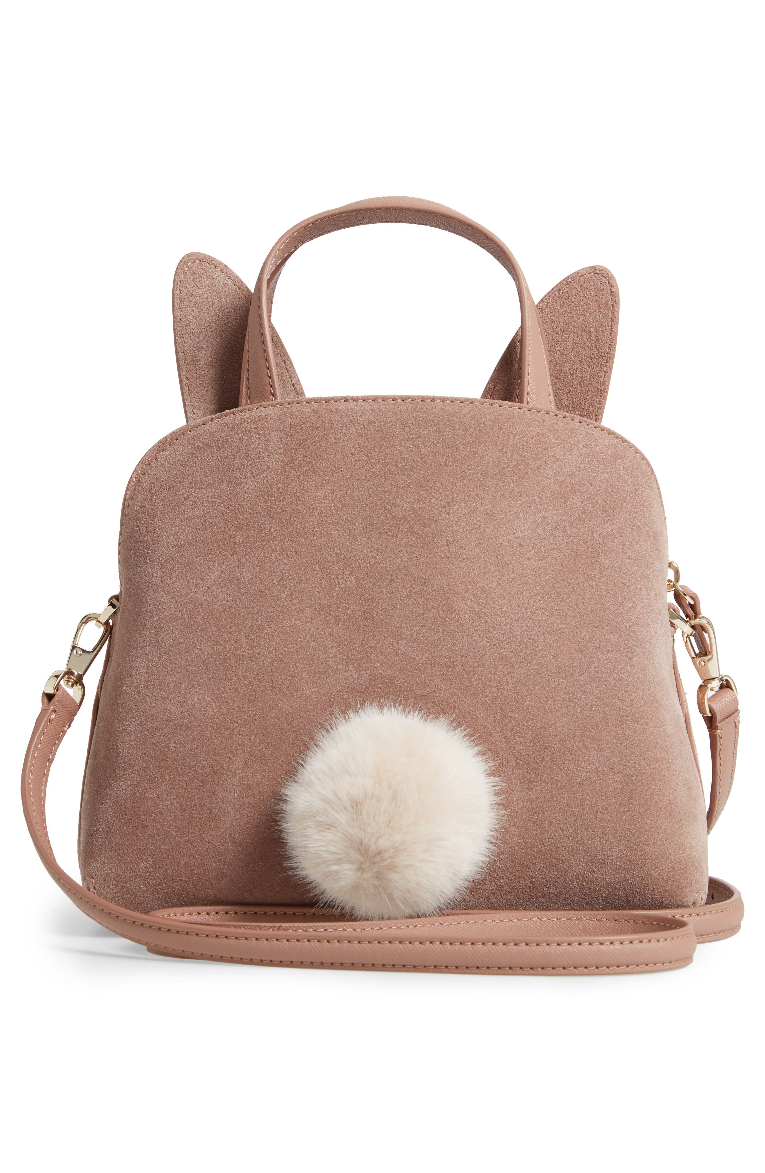 KATE SPADE NEW YORK,                             desert muse rabbit small lotti bag,                             Alternate thumbnail 3, color,                             200