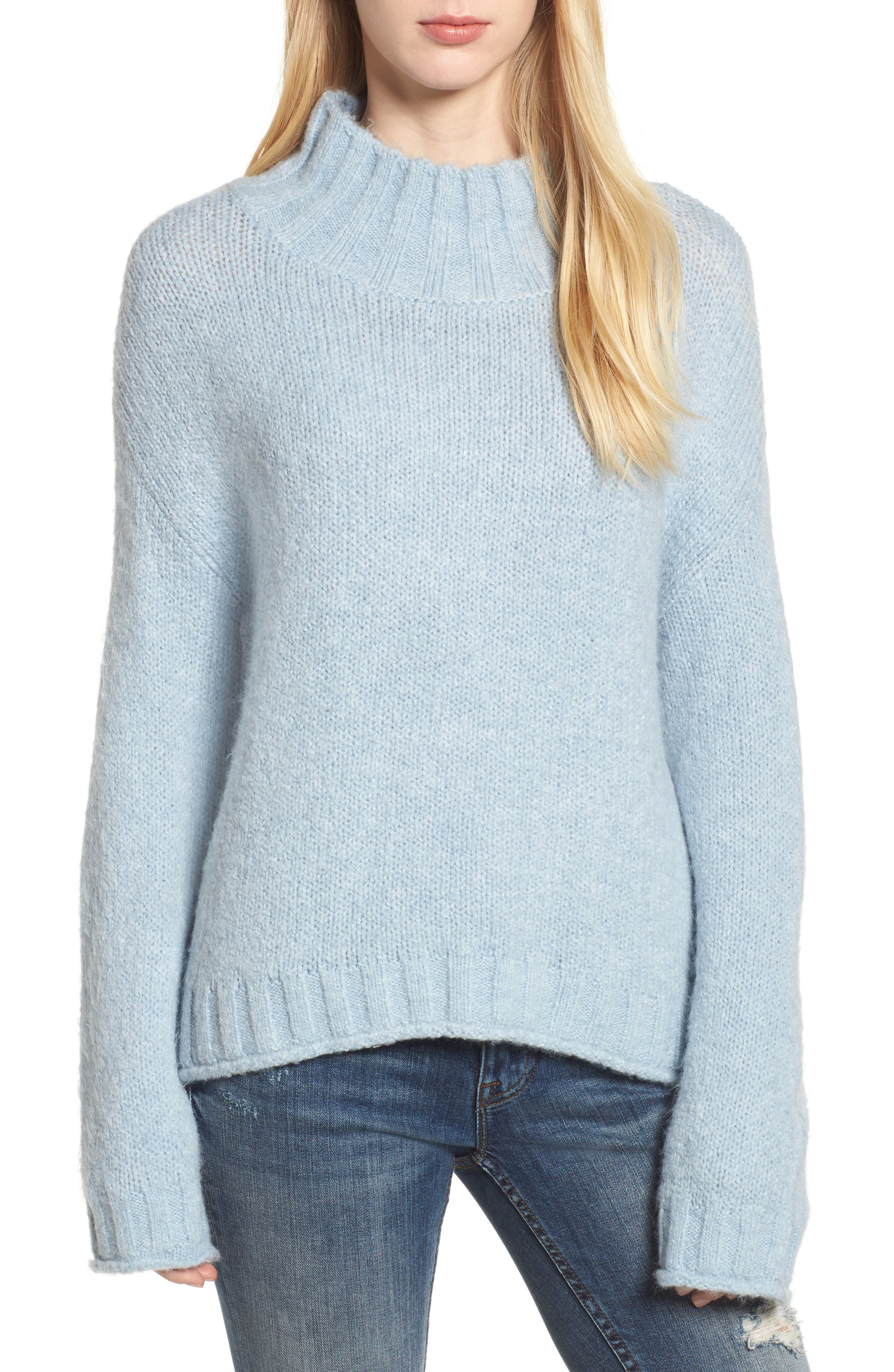 Cozy Mock Neck Sweater,                             Main thumbnail 6, color,