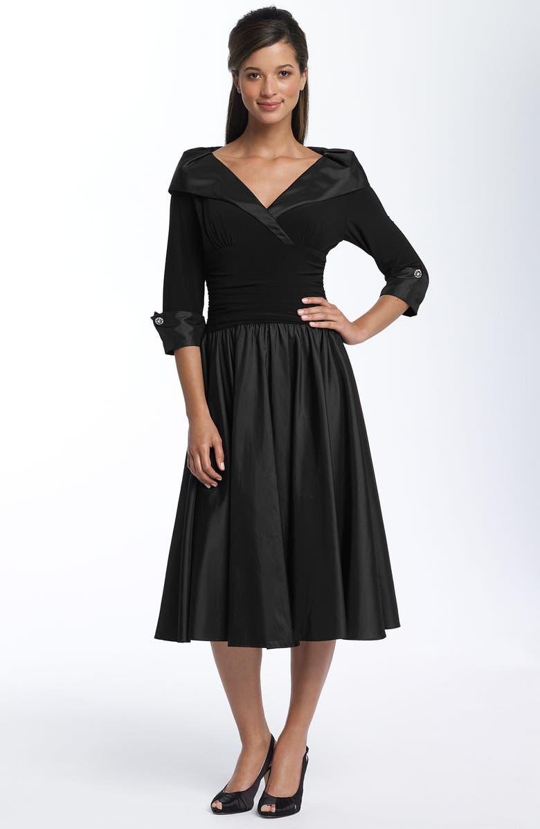 59c3243b6af Eliza J Taffeta   Jersey Shirtdress