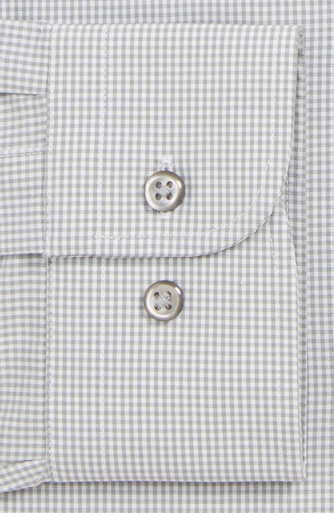 Tech-Smart Trim Fit Stretch Check Dress Shirt,                             Alternate thumbnail 2, color,                             GREY SLEET