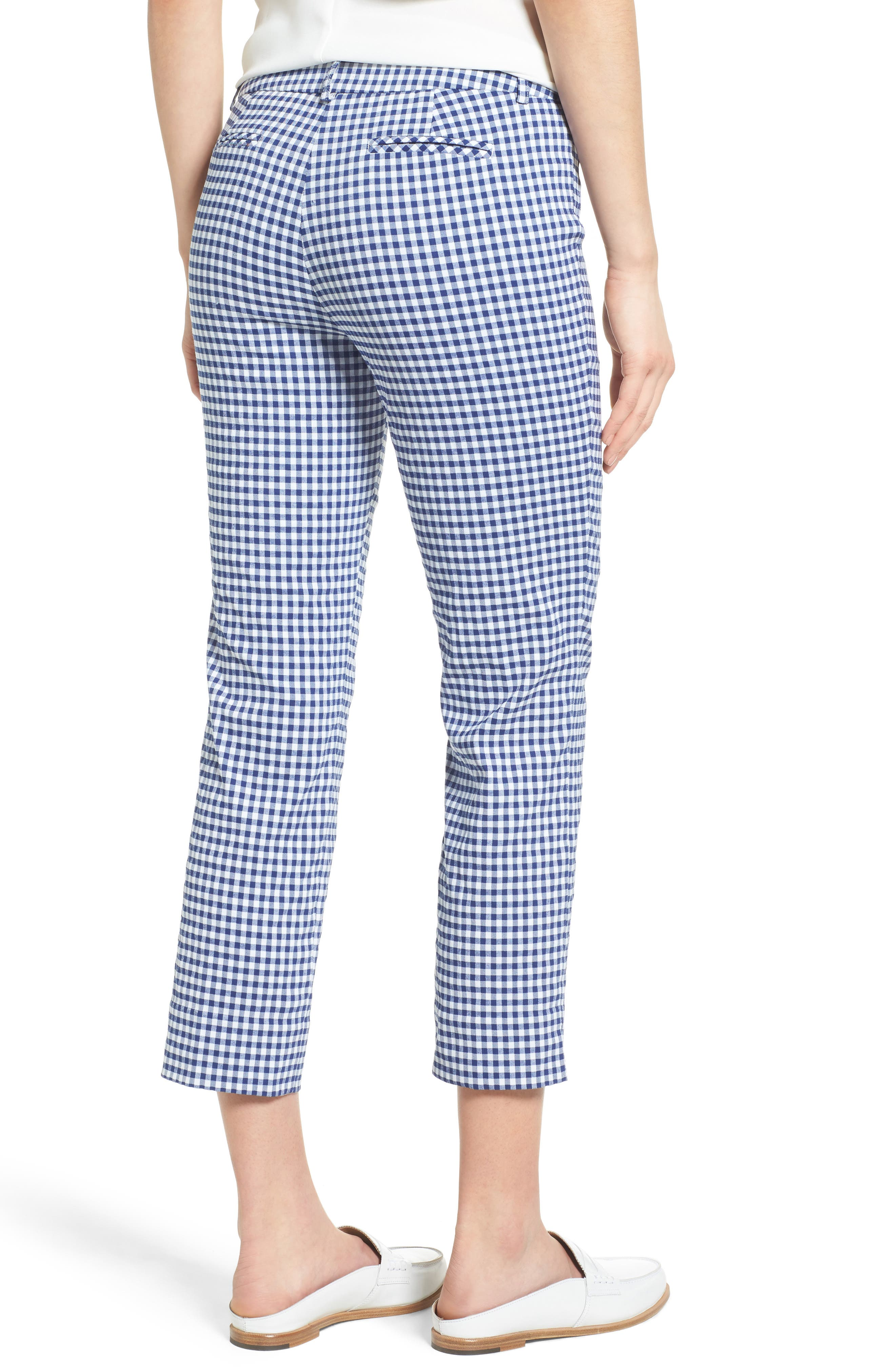 Crop Stretch Cotton Pants,                             Alternate thumbnail 36, color,