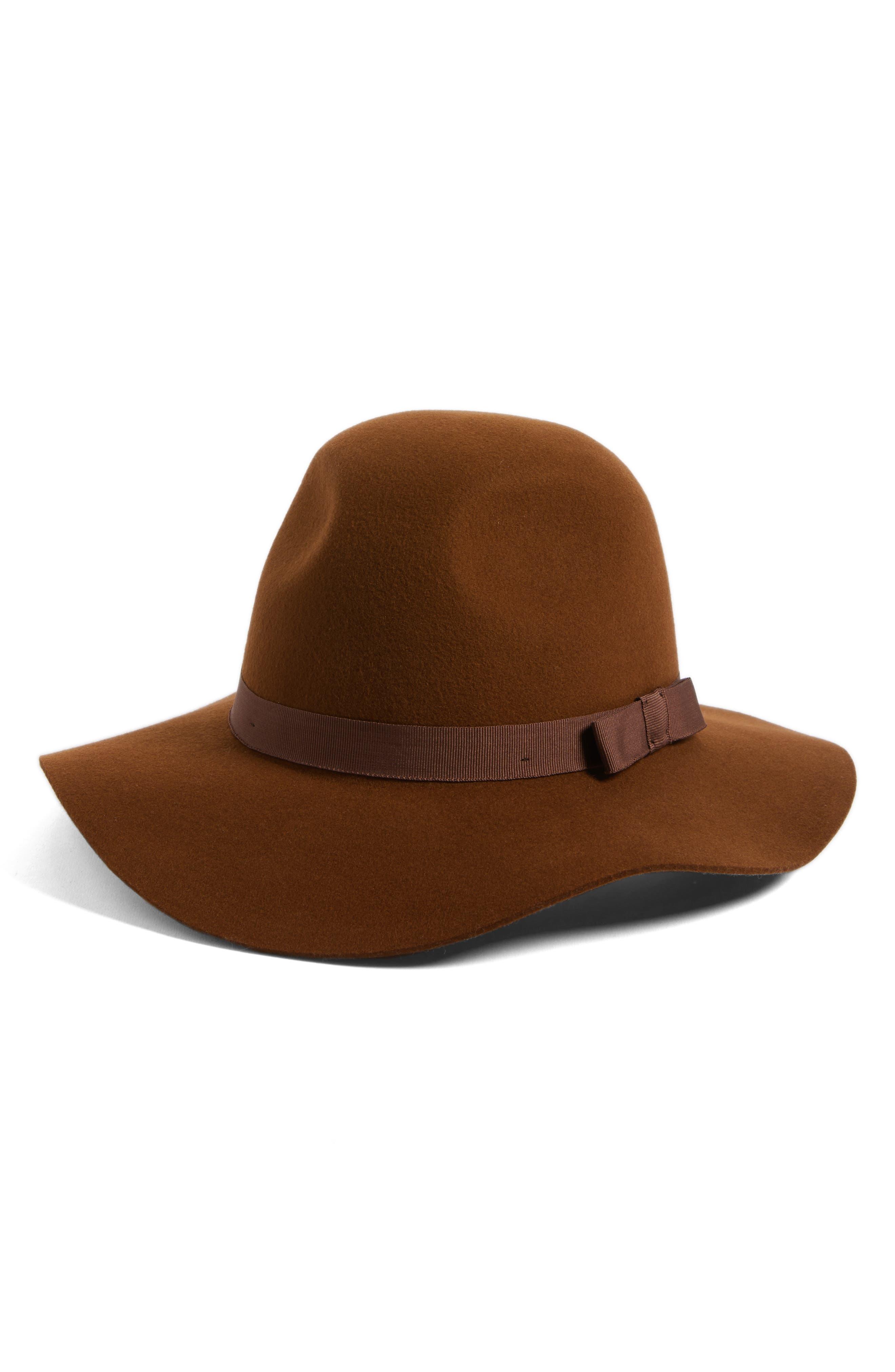 'Dalila' Floppy Felt Hat,                             Main thumbnail 4, color,