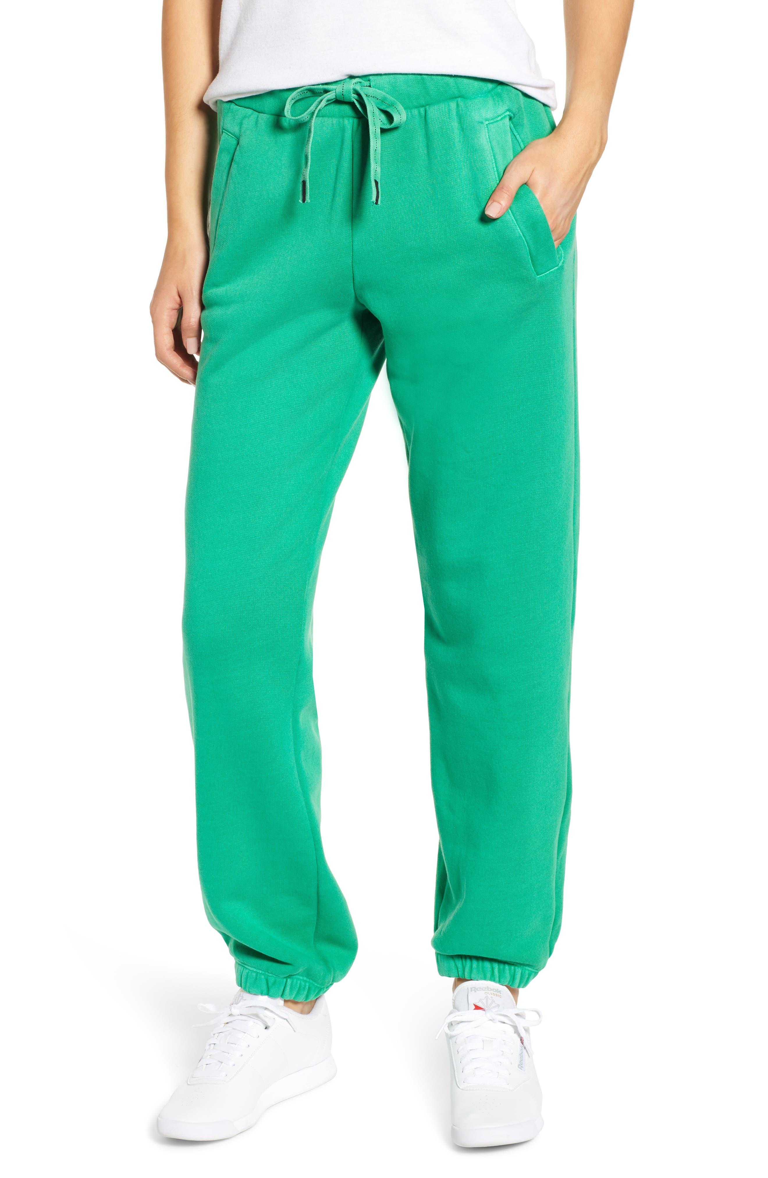 Neon Sweatpants,                         Main,                         color, GREEN