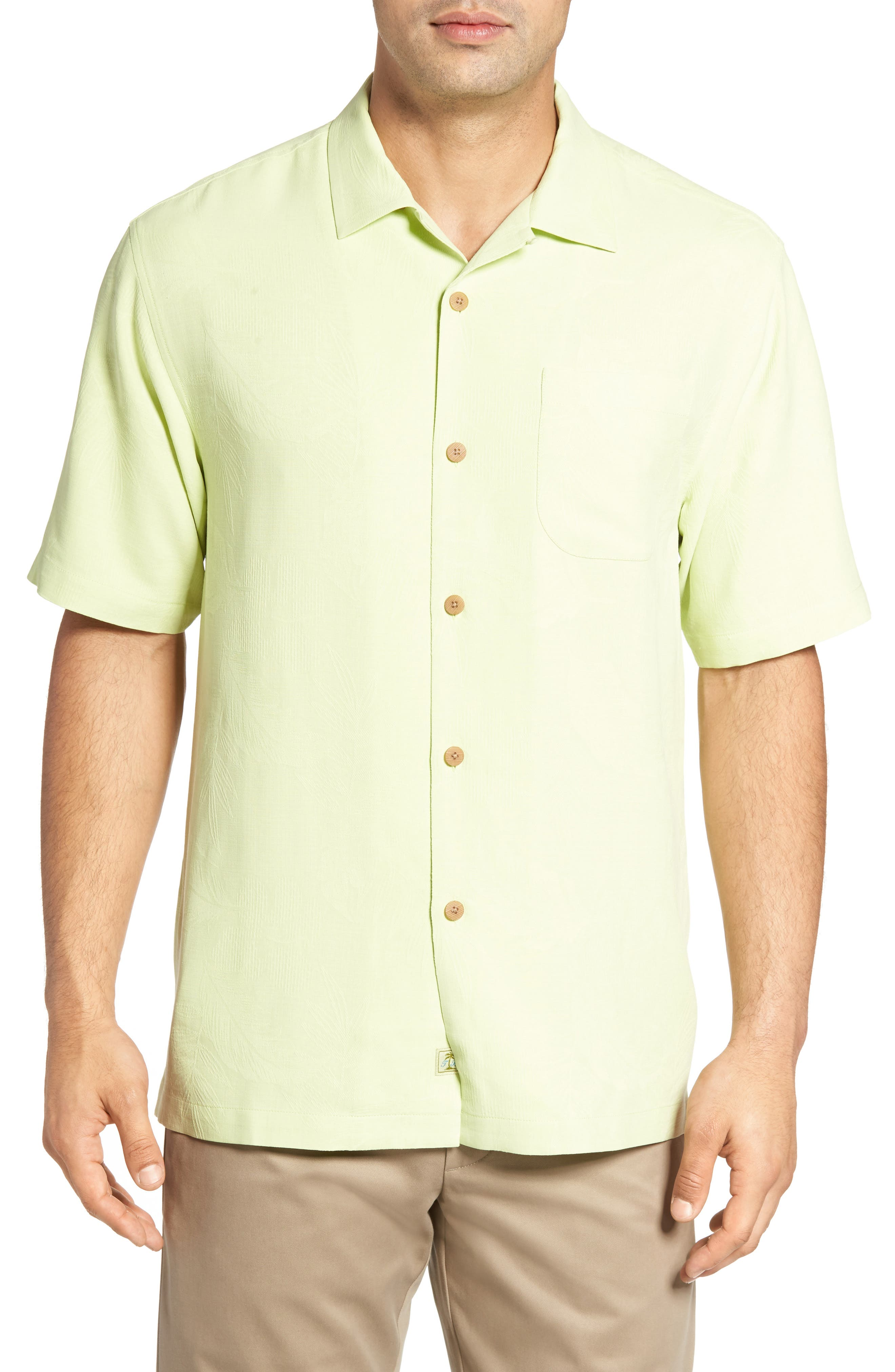 Rio Fronds Short Sleeve Silk Sport Shirt,                             Alternate thumbnail 24, color,