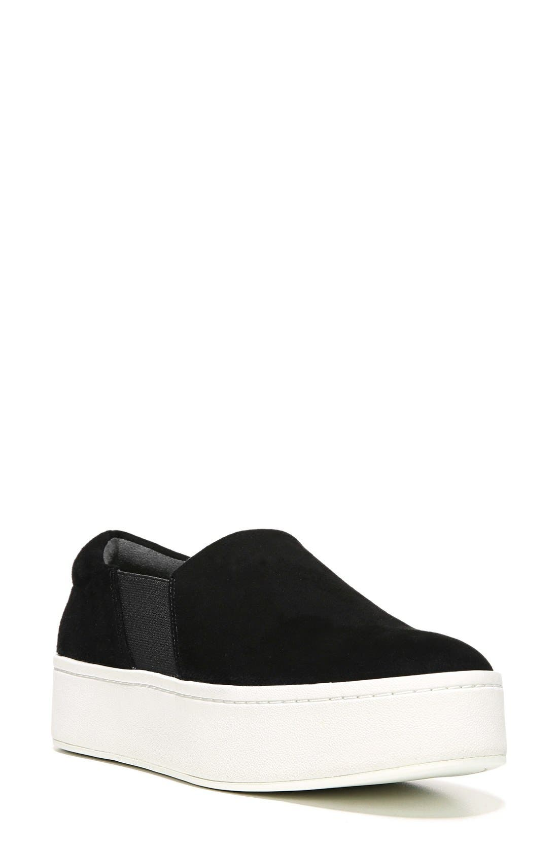 Warren Suede Platform Skate Sneakers in Black Suede