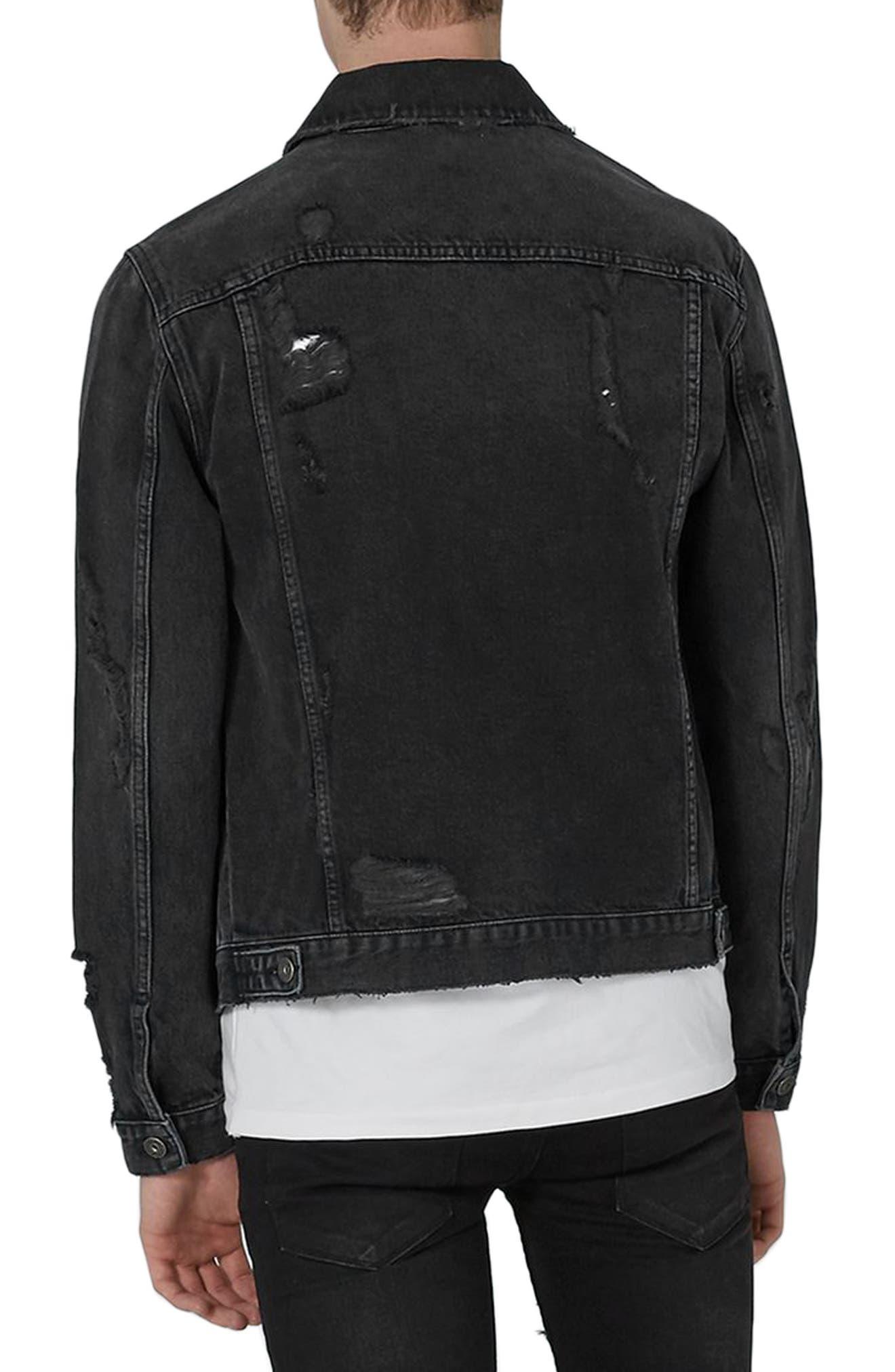 Piro Distressed Denim Jacket,                             Alternate thumbnail 2, color,