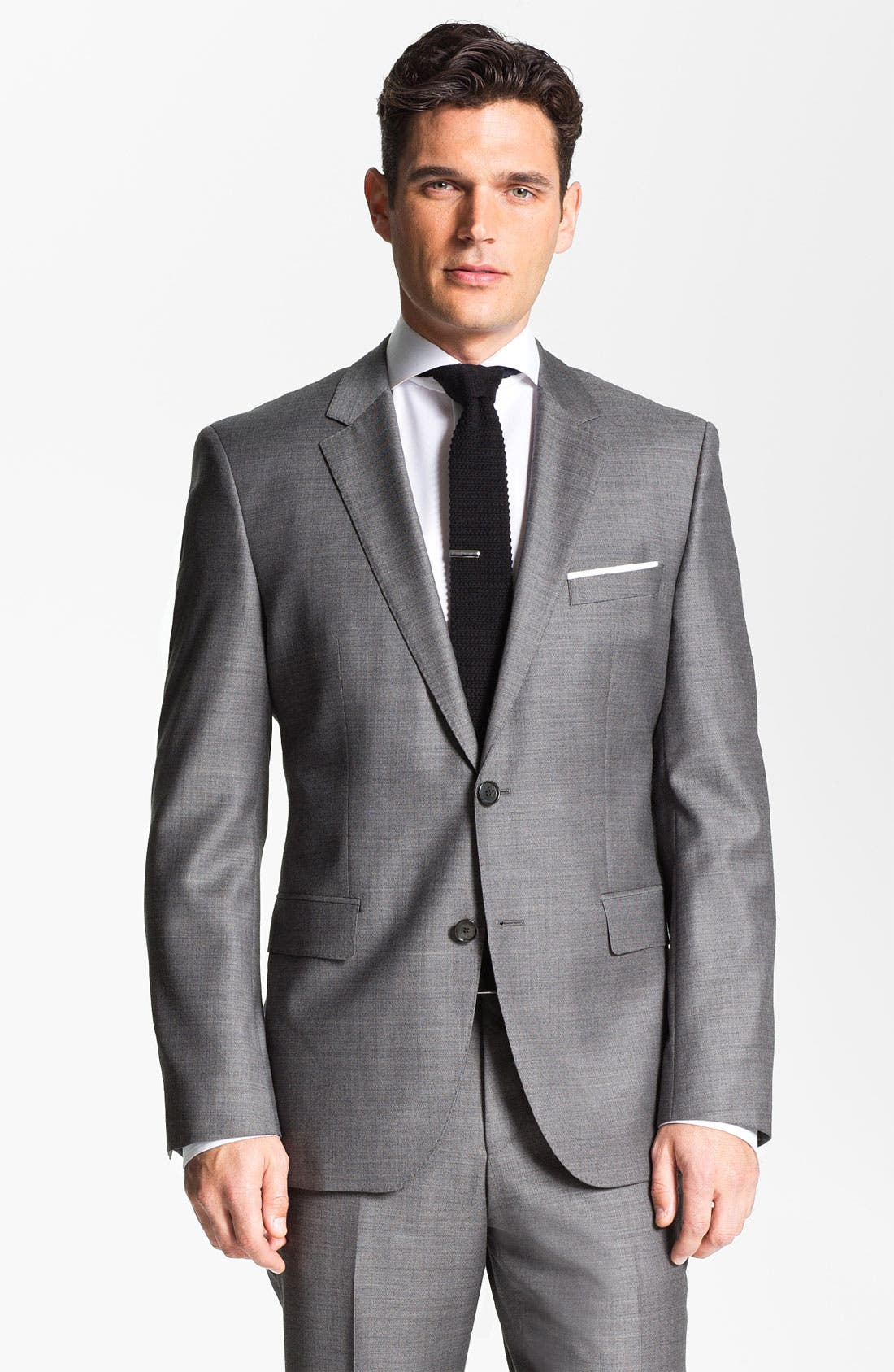 BOSS HUGO BOSS 'James/Sharp' Trim Fit Wool Suit,                             Alternate thumbnail 4, color,                             020
