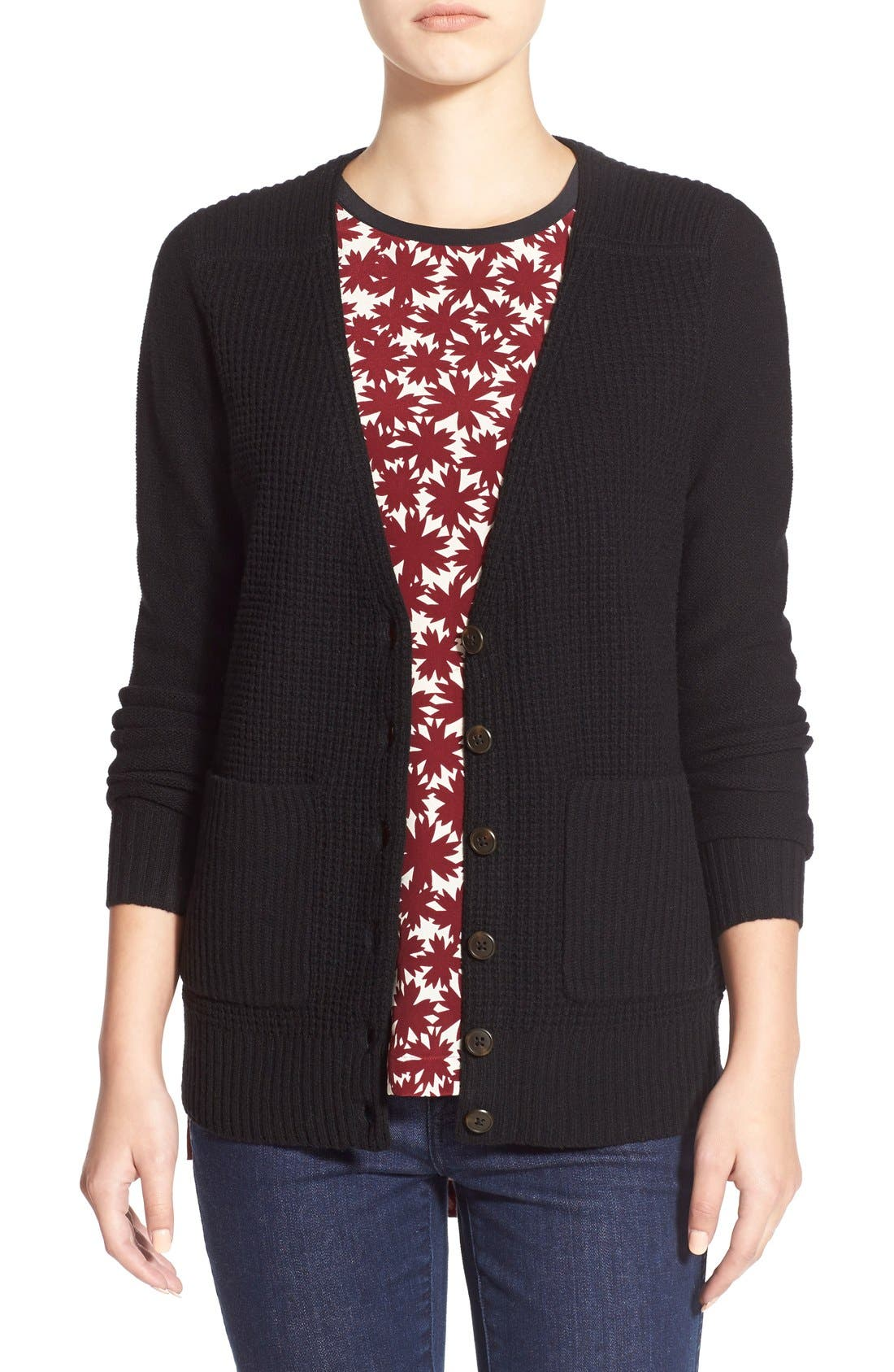 MADEWELL 'University' Cardigan, Main, color, 001