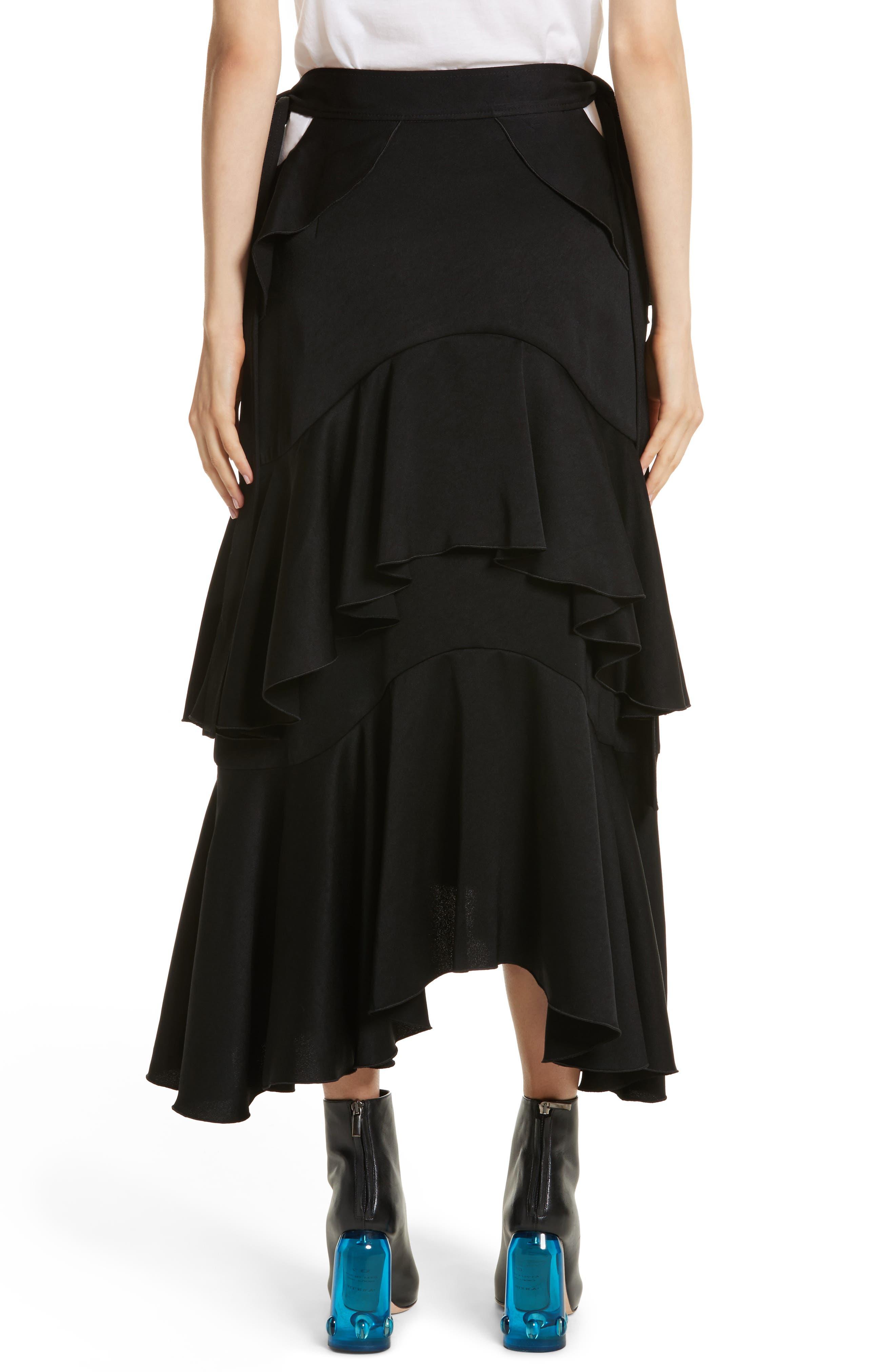 Saloon Ruffle Skirt,                             Alternate thumbnail 2, color,                             001
