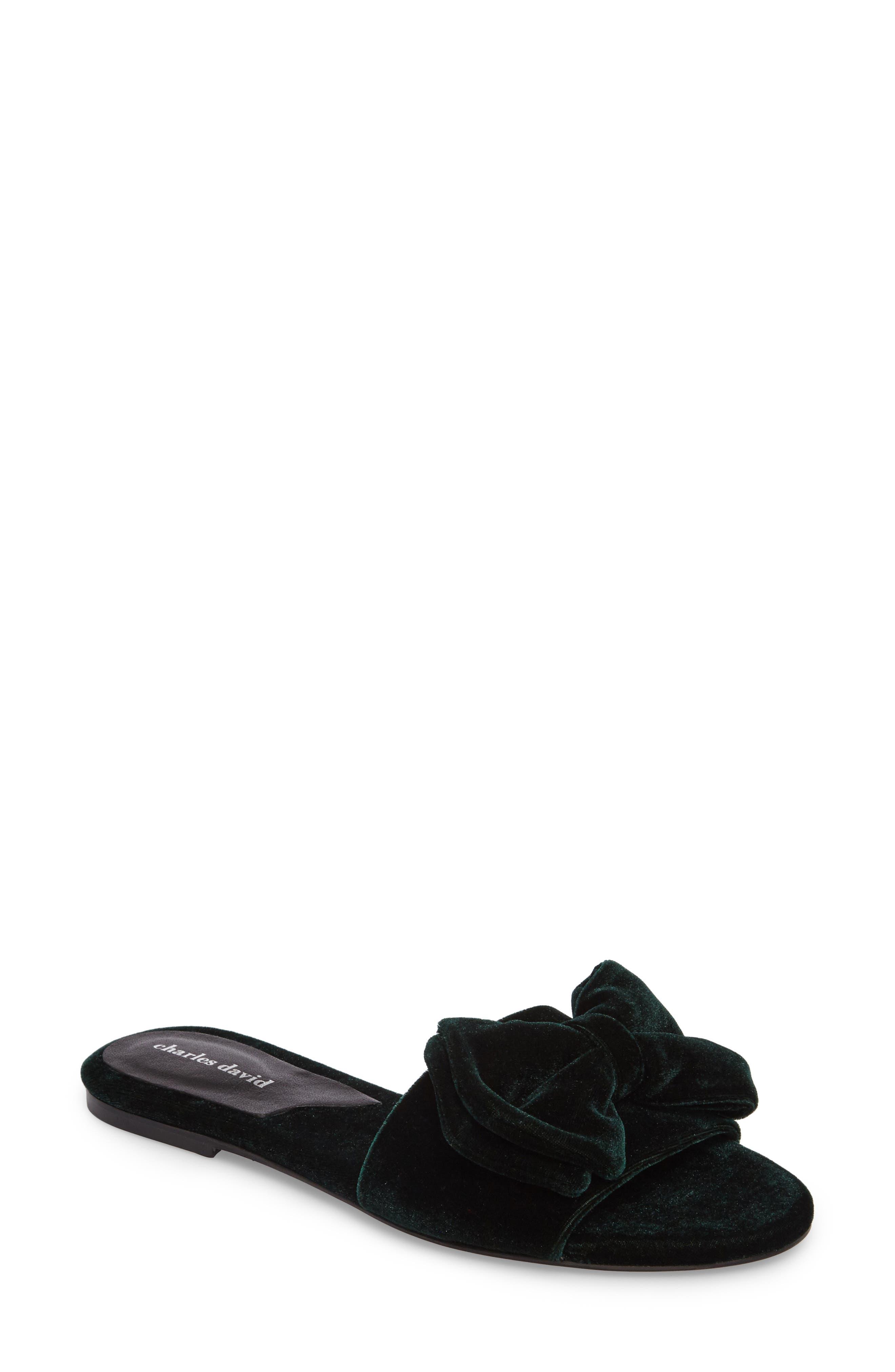 Bow Slide Sandal,                             Main thumbnail 2, color,