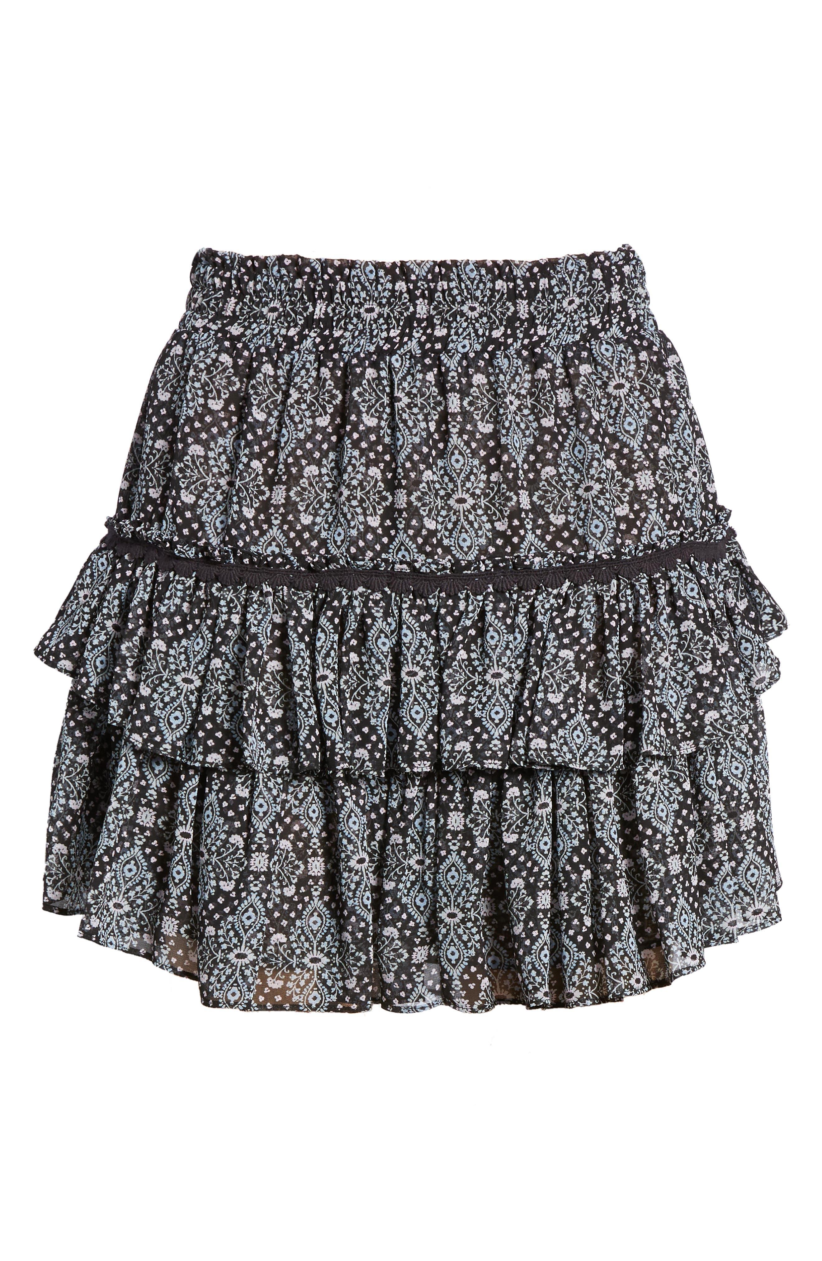 Taleh Ruffle Skirt,                             Alternate thumbnail 6, color,                             001