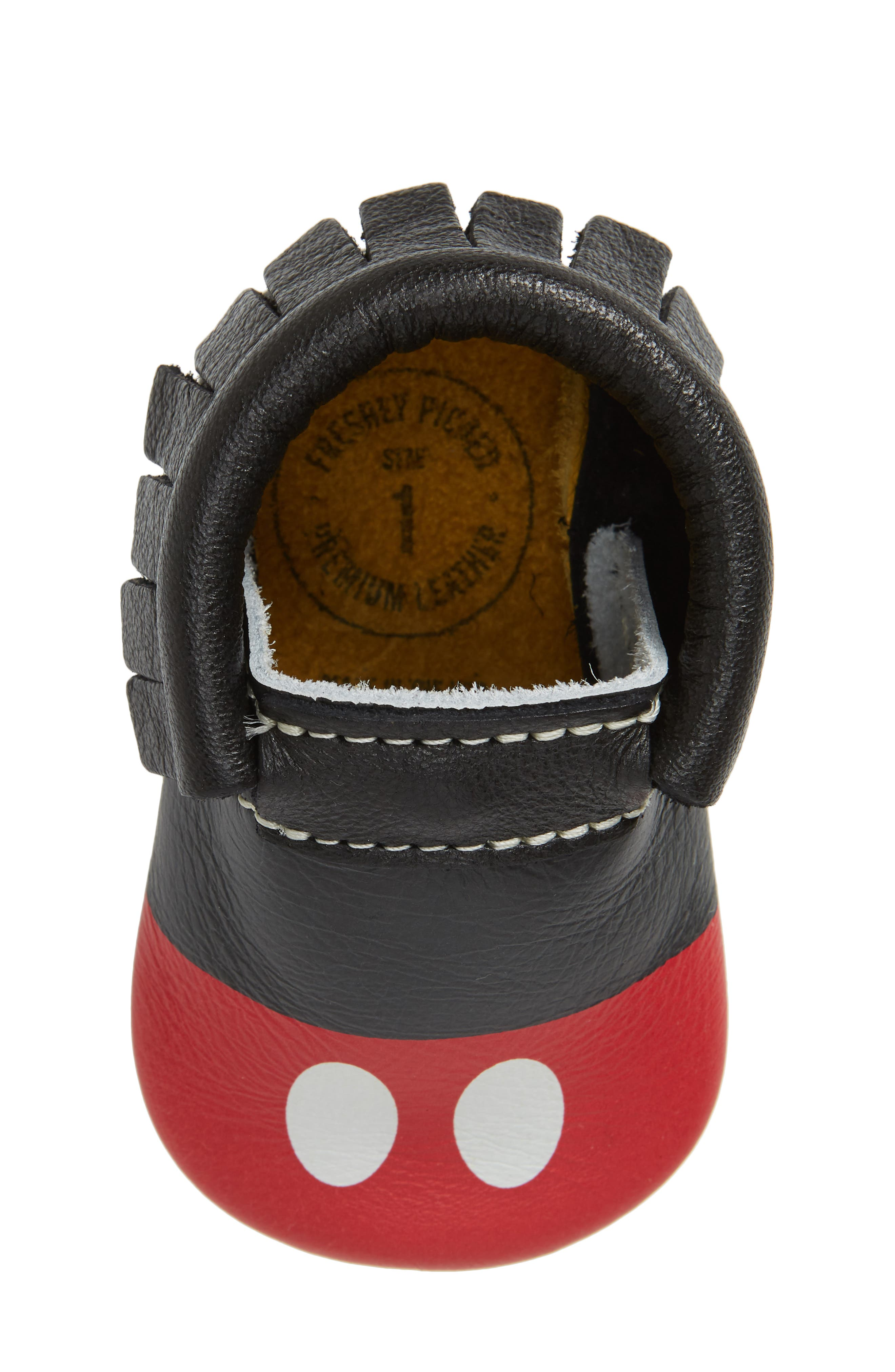 x Disney<sup>®</sup> Baby Mickey Mousee Crib Moccasin,                             Alternate thumbnail 5, color,                             001