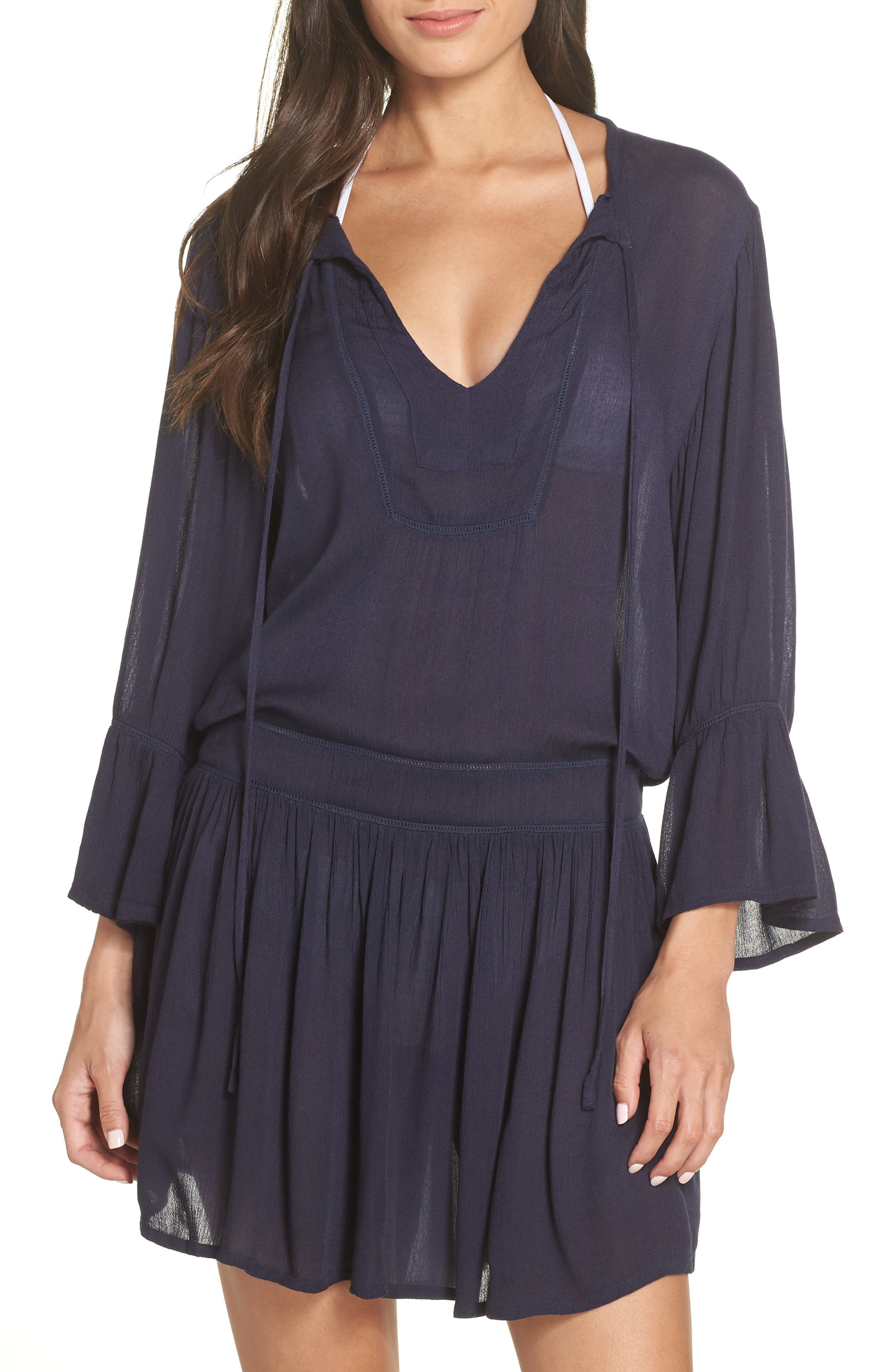 VIX SWIMWEAR Agatha Cover-Up Dress in Navy