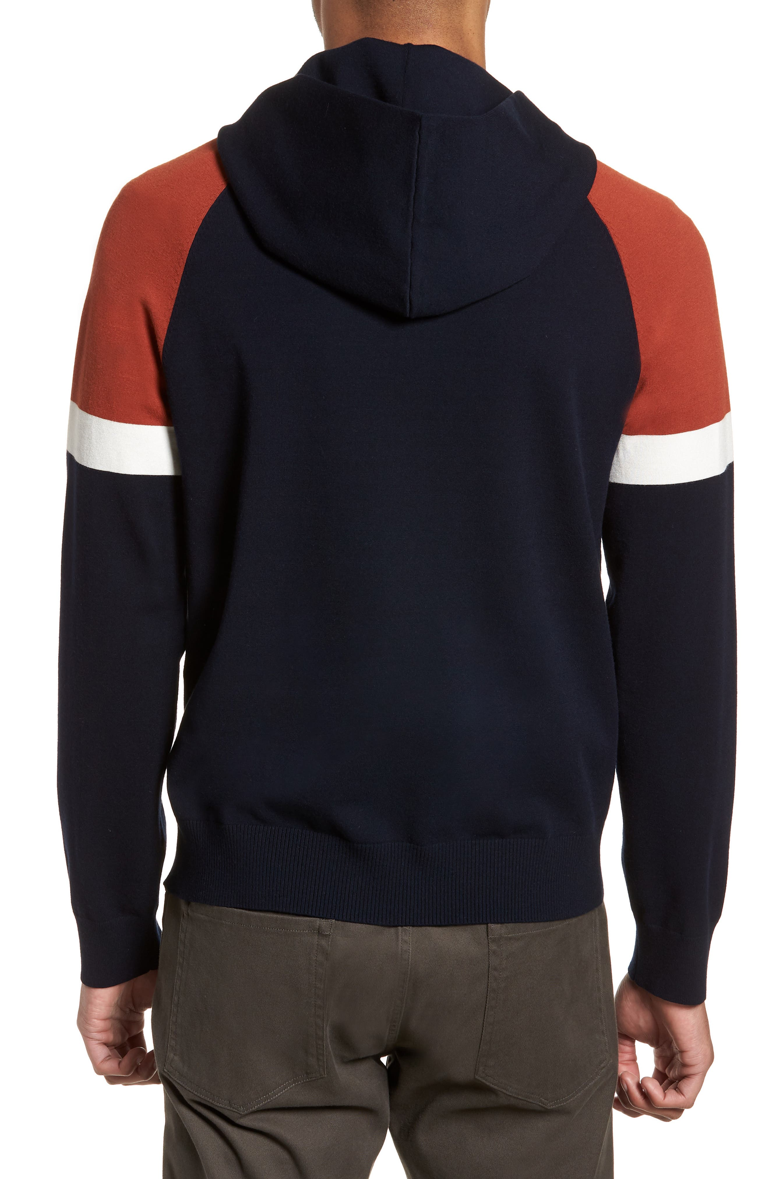 Colorblocked Pullover Hoodie,                             Alternate thumbnail 4, color,