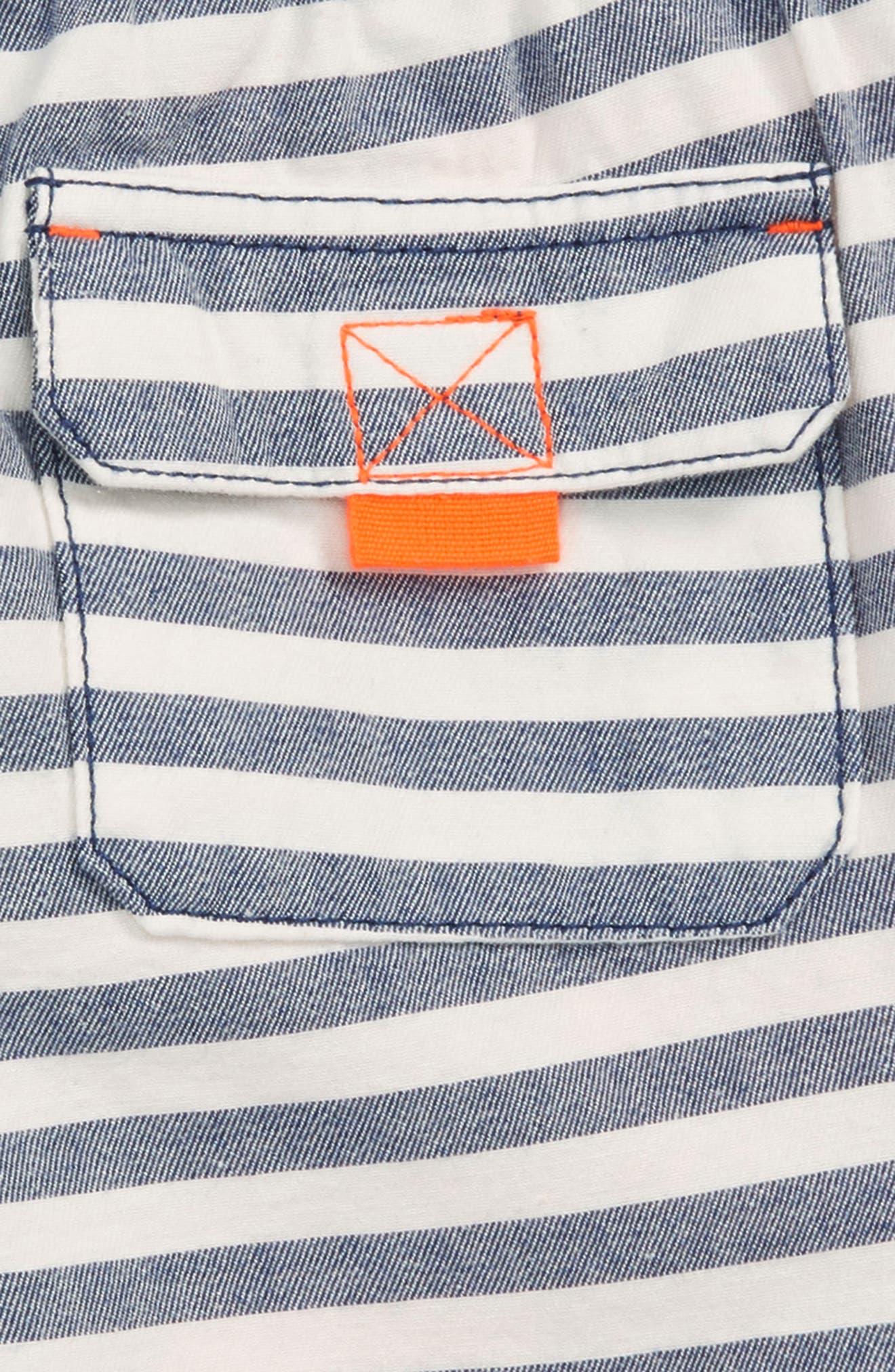 Stripe Drawstring Shorts,                             Alternate thumbnail 3, color,                             414