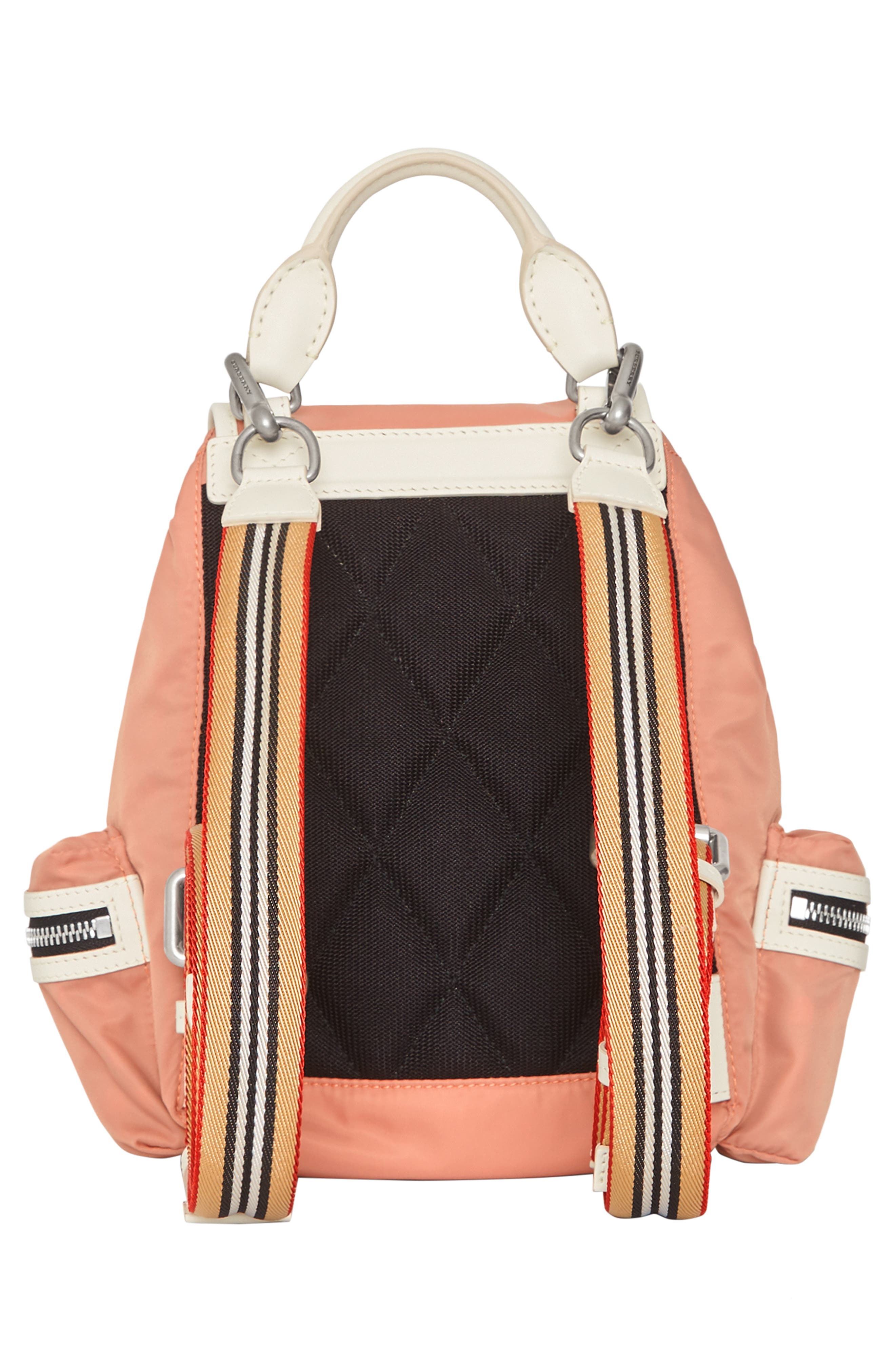 Small Rucksack Nylon Backpack,                             Alternate thumbnail 2, color,                             POWDER PINK